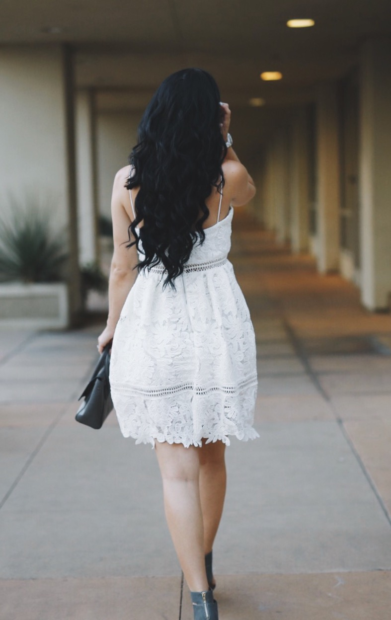 White Crochet Cutout Dress | how to style a crochet cutout dress | how to wear a crochet cutout dress | crochet cutout dress style tips | summer fashion tips | summer outfit ideas | summer style tips | what to wear for summer | warm weather fashion | fashion for summer | style tips for summer | outfit ideas for summer || Dressed to Kill
