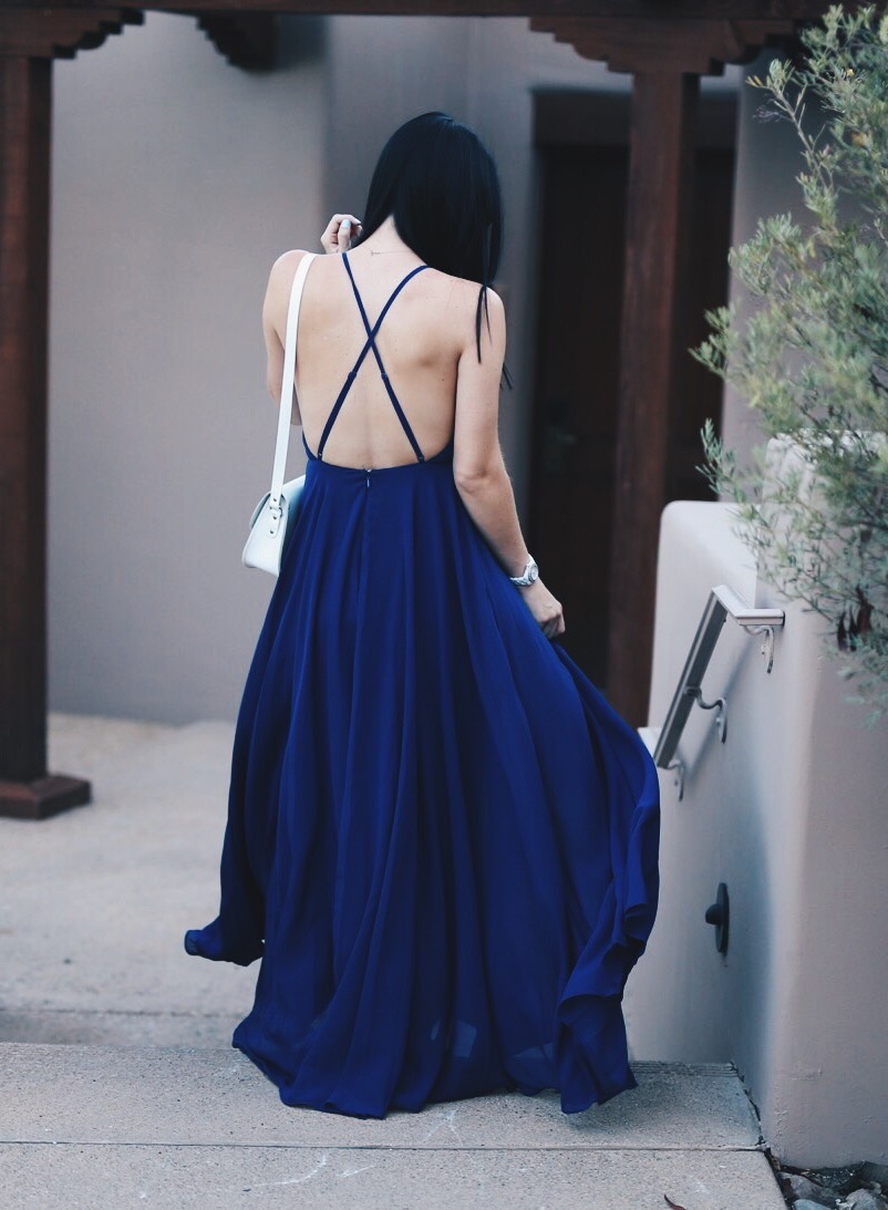 Blue Maxi Dress  | how to style a maxi dress | how to wear a maxi dress | maxi dress style tips | summer fashion tips | summer outfit ideas | summer style tips | what to wear for summer | warm weather fashion | fashion for summer | style tips for summer | outfit ideas for summer || Dressed to Kill
