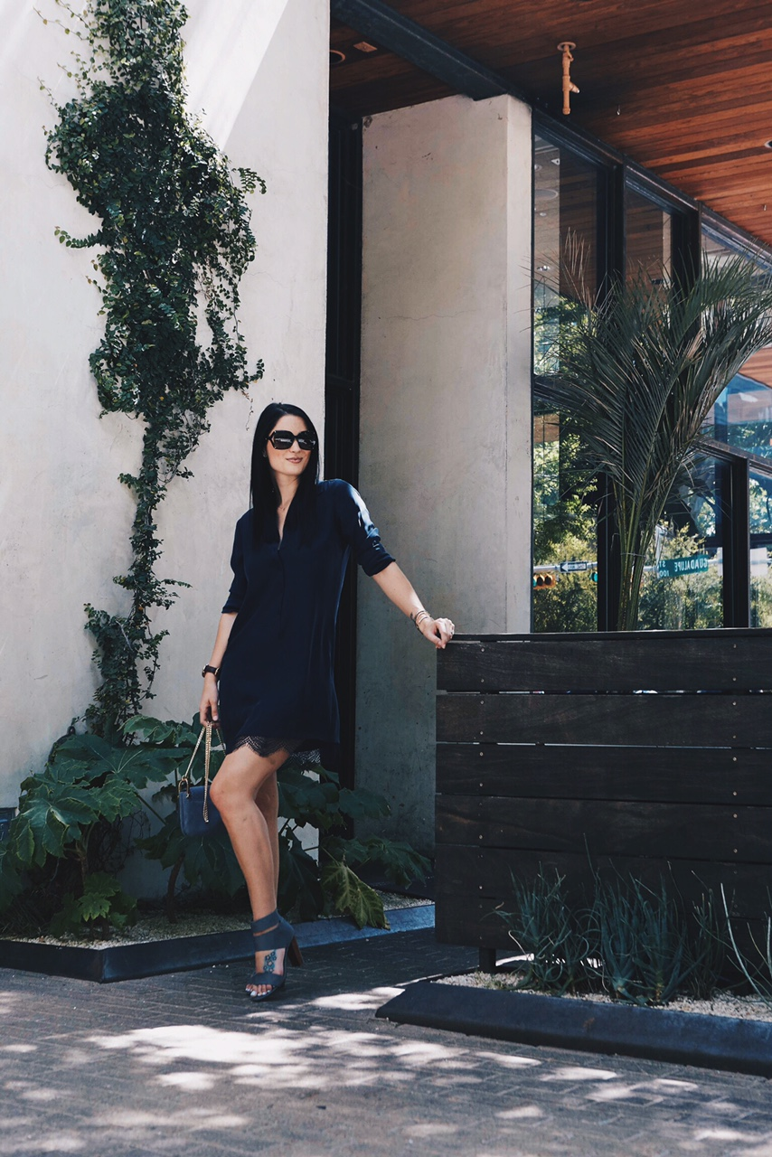 Navy Henley Shirt Dress with Lace   how to style a shirt dress   how to wear a shirt dress   shirt dress style tips   summer fashion tips   summer outfit ideas   summer style tips   what to wear for summer   warm weather fashion   fashion for summer   style tips for summer   outfit ideas for summer    Dressed to Kill