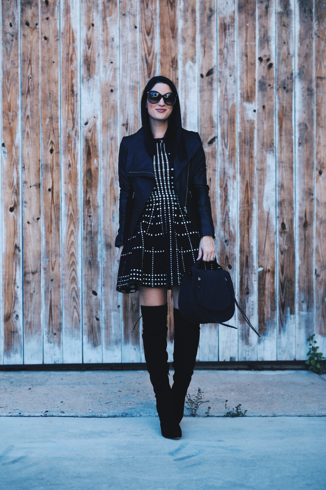 Fit and Flare Knit Dress and Over the Knee Boots | how to style a fit and flare dress | how to wear a fit and flare dress | fit and flare dress style tips | fall fashion tips | fall outfit ideas | fall style tips | what to wear for fall | cool weather fashion | fashion for fall | style tips for fall | outfit ideas for fall || Dressed to Kill