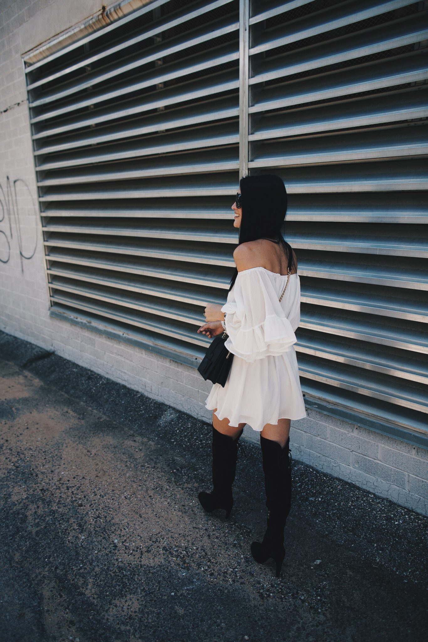 White Romper and Over the Knee Boots | how to style a romper | how to wear a romper | how to style OTK boots | how to wear OTK boots | summer fashion tips | summer outfit ideas | summer style tips | what to wear for summer | warm weather fashion | fashion for summer | style tips for summer | outfit ideas for summer || Dressed to Kill