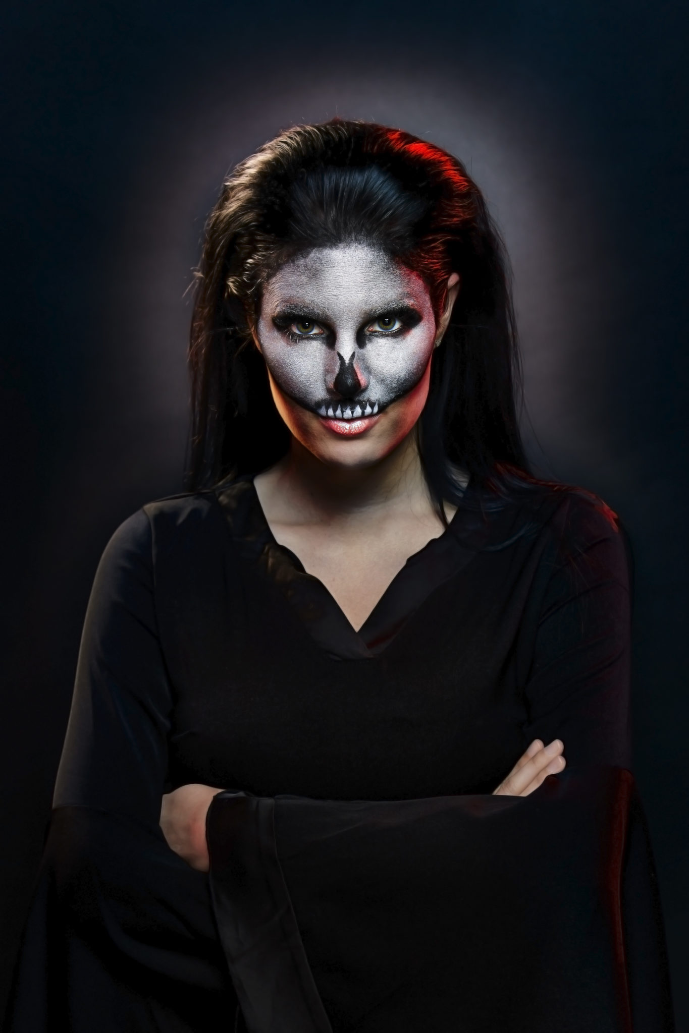 Halloween Skull Makeup | halloween makeup ideas | halloween costume ideas | how to do makeup for halloween | halloween inspired makeup ideas | makeup tips for halloween || Dressed to Kill