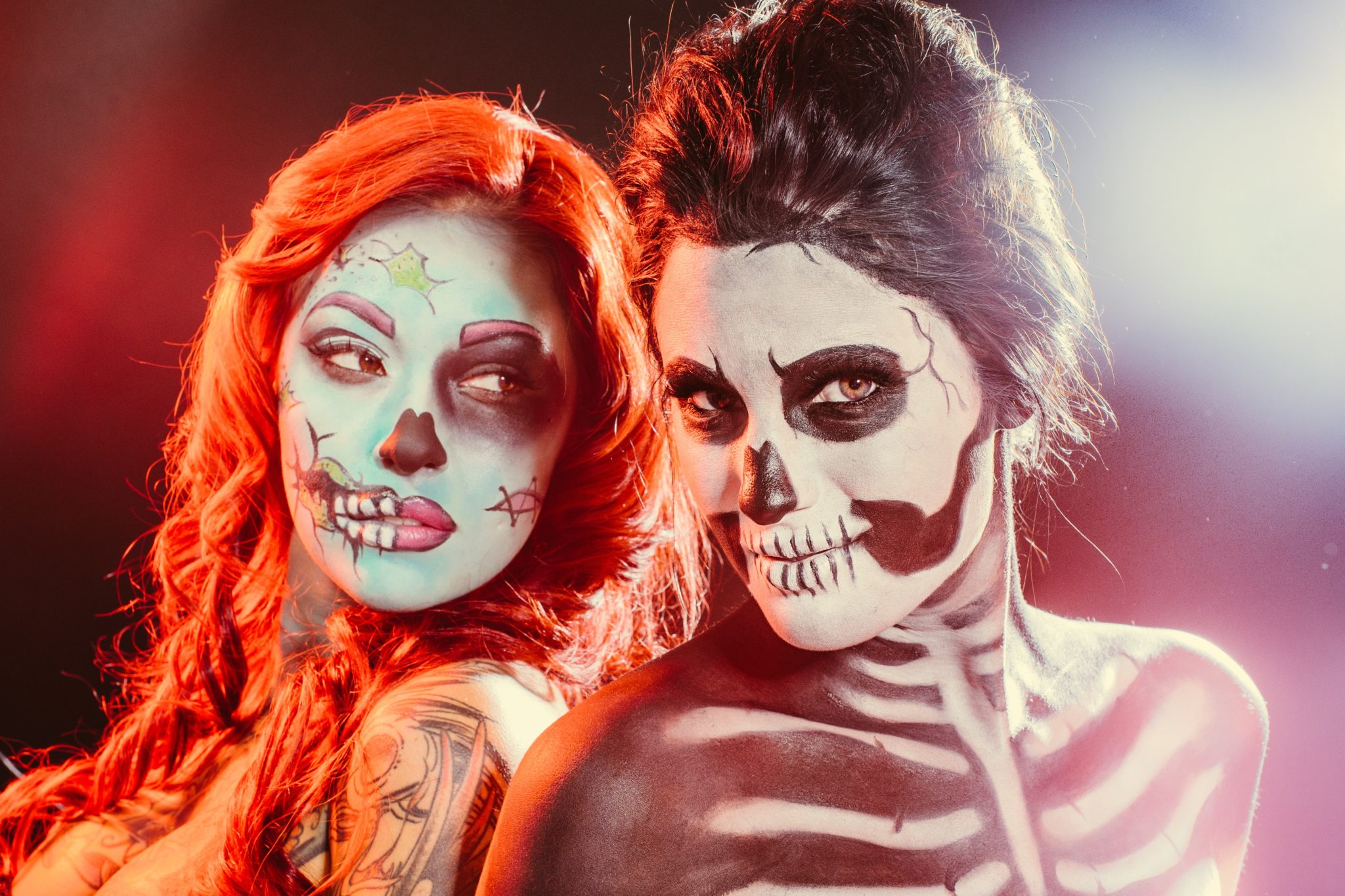 Skeleton and Comic Hallowen Makeup | halloween makeup ideas | halloween costume ideas | how to do makeup for halloween | halloween inspired makeup ideas | makeup tips for halloween || Dressed to Kill