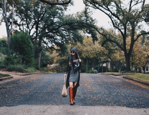 Ashley Hargrove of DTKAustin is wearing Justin Boots for the Fall