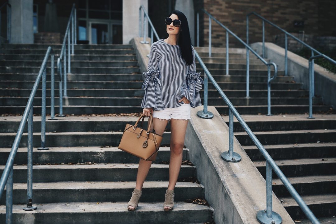 DTKAustin shares her favorite denim picks for spring and summer that are all under $100. Think cutoff shorts, denim, skirts and chambray dresses all affordable! Click for more info and shopping details.