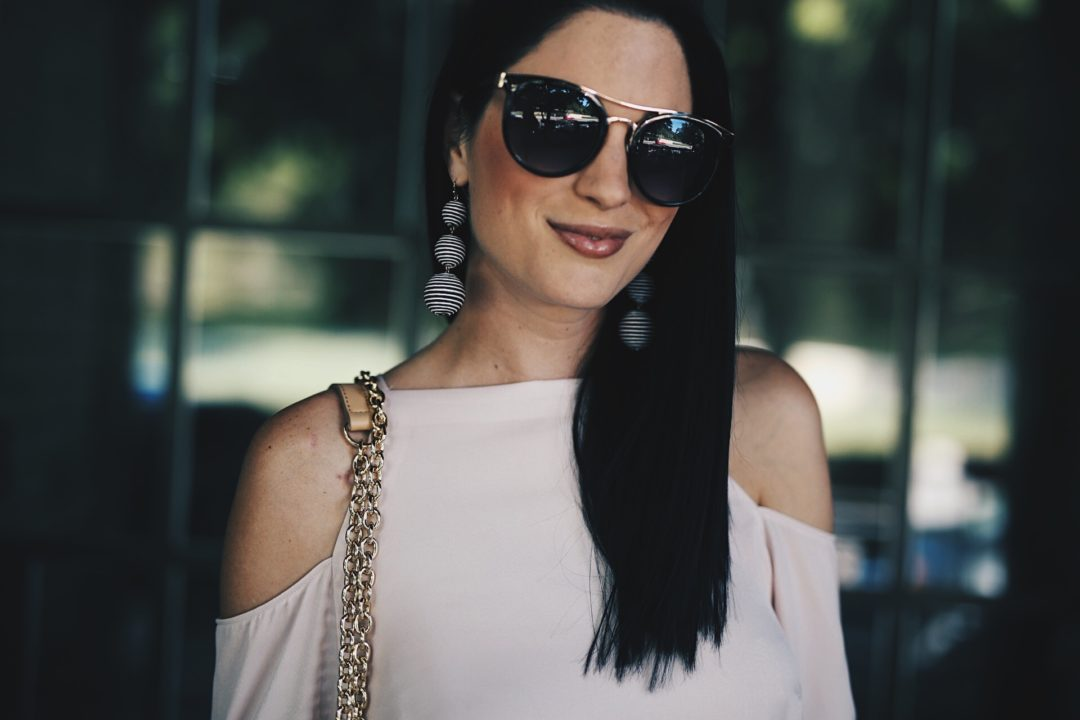 DTKAustin shares one of her favorite spring and summer looks from Nordstrom. White distressed denim and a pink silk top make the perfect outfit. Click for more details and photos!