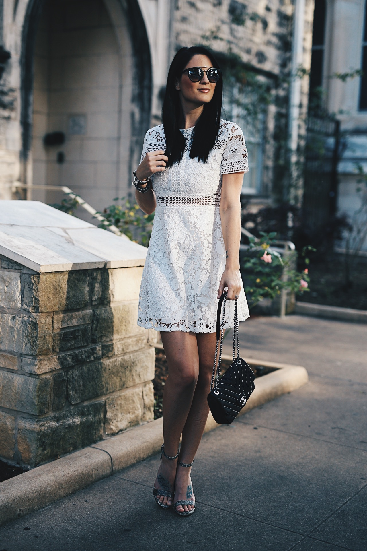 94c79ca623 White Lace Summer Dress with Chicwish - Dressed to Kill