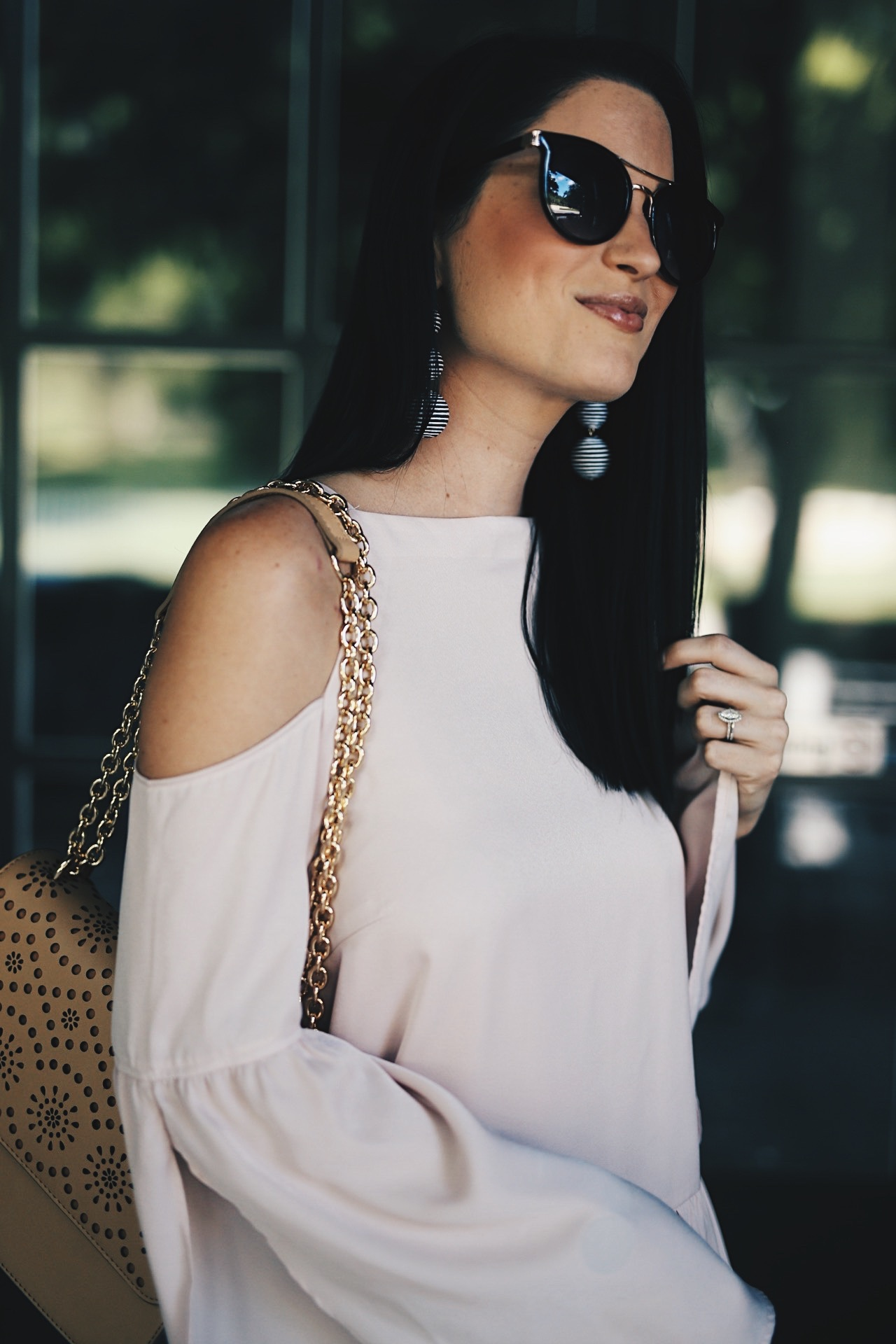 DTKAustin shares one of her favorite spring and summer looks from Nordstrom. White distressed denim and a pink silk top make the perfect outfit. Click for more details and photos!   spring fashion   spring style   dress for spring   what to wear for spring   warm weather fashion   spring fashion tips   how to style a silk top   spring style ideas   spring outfit ideas    Dressed to Kill