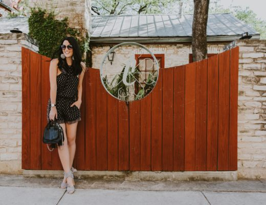 DTKAustin shares her favorite detailed romper and shoes from Splendid plus a gorgeous black leather bag from Rebecca Minkoff. Click for more information and photos.