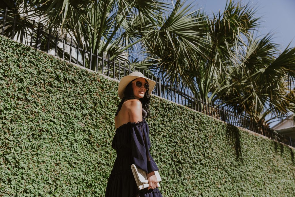 DTKAustin shares one of her favorite summer dresses by MISA Los Angeles and talks how to wear darker colors in the summer. Click for more info and photos.