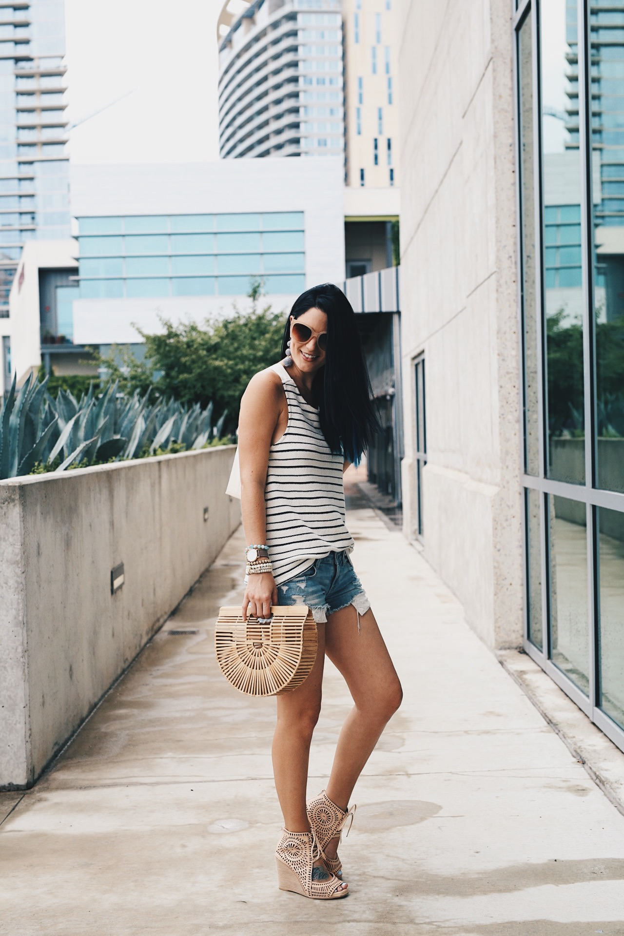 DTKAustin shares her tips and tricks to efficiently shop the Nordstrom Anniversary Sale, NSALE for 2017. Click for more information and photos. | how to style a waffle-knit top | how to wear a waffle-knit top | how to wear cutoff shorts | how to style cutoff shorts | waffle-knit top style tips | summer fashion tips | summer outfit ideas | summer style tips | what to wear for summer | warm weather fashion | fashion for summer | style tips for summer | outfit ideas for summer || Dressed to Kill
