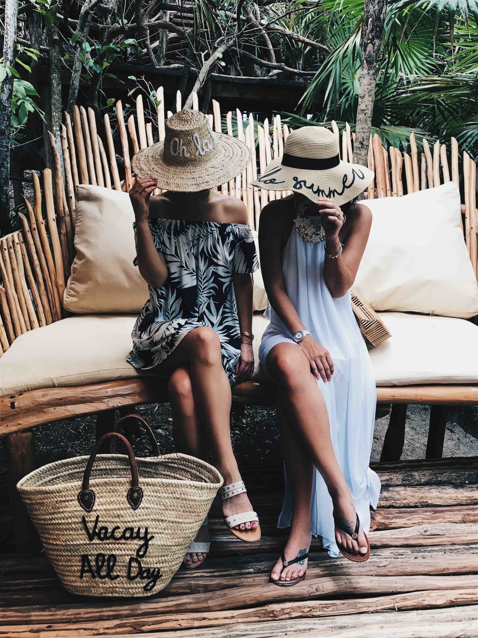 DTKAustin is sharing her must have straw summer accessories. From straw hats with fun sayings to colorful beach totes, it's all in this post! Click for more information and photos. | Must Have Summer Straw Pool & Beach Accessories | summer straw hat accessories | summer beach accessories | summer straw hat style | summer beach style | straw hat fashion | must have straw hats || Dressed to Kill