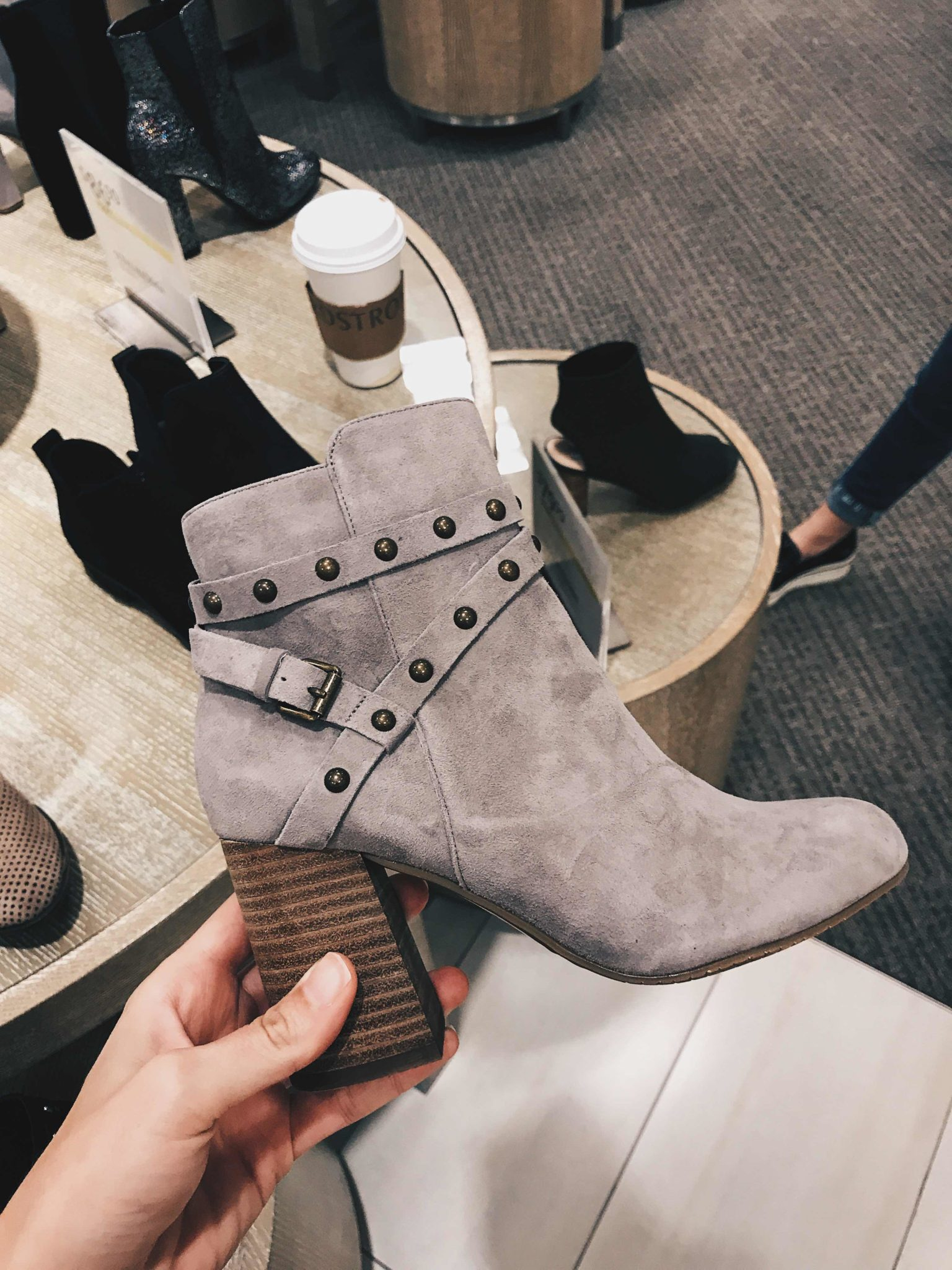 Austin Blogger DTKAustin is sharing her top must-have pieces from the 2017 Nordstrom Anniversary Sale. Suede studded booties under $100 | nordstrom sale must haves | what to buy from the nordstrom anniversary sale || Dressed to Kill