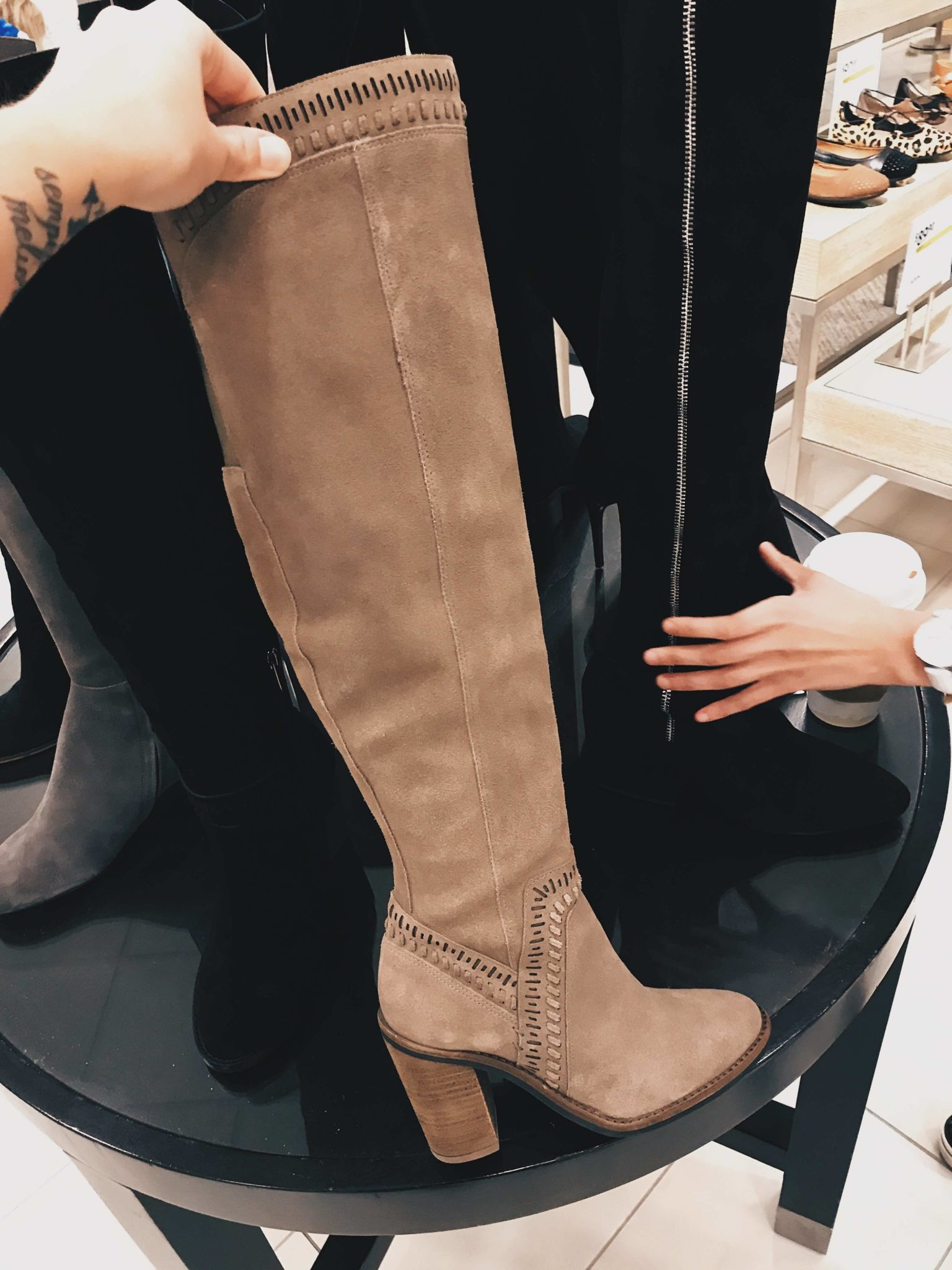 Austin Blogger DTKAustin is sharing her top must-have pieces from the 2017 Nordstrom Anniversary Sale. Vince Camuto OTK Suede Boots | nordstrom sale must haves | what to buy from the nordstrom anniversary sale || Dressed to Kill
