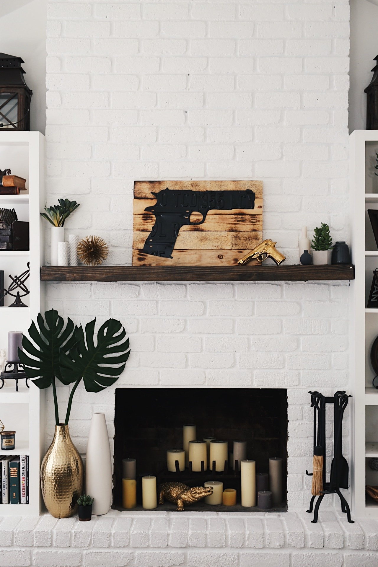 Painting A Fireplace White Before And After Best Image Voixmag Com