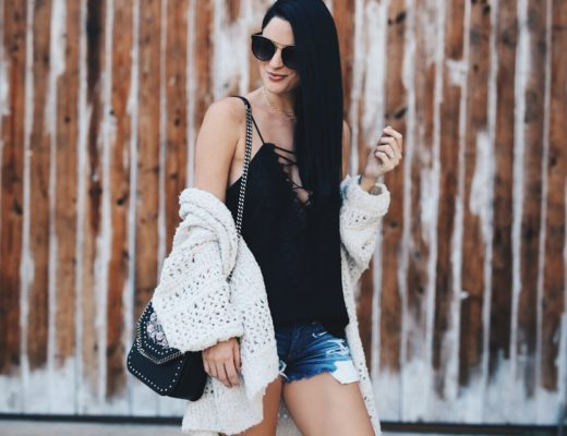Austin blogger DTKAustin shares tips on how to Transition your Summer Wardobe to Fall with a few key pieces like this Free People Cardigan or this Stella McCartney black bag. Click for more details and photos.