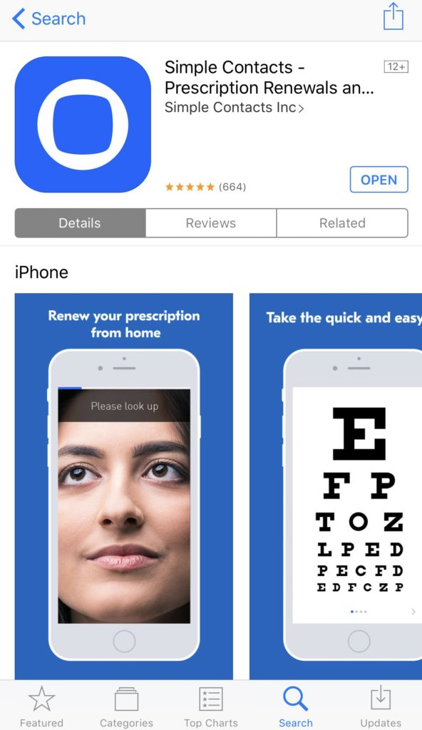 How to use the Simple Contacts app to take a vision test from your own home and renew your prescription without having to see an eye doctor.