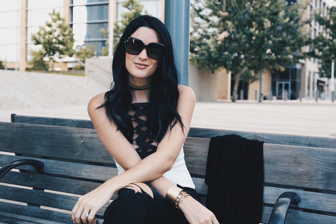 Austin Blogger DTKAustin talks all about how to pull off a body suit for any look along with her go-to, edgy jewelry from Jenny Bird. Click for more details and photos!