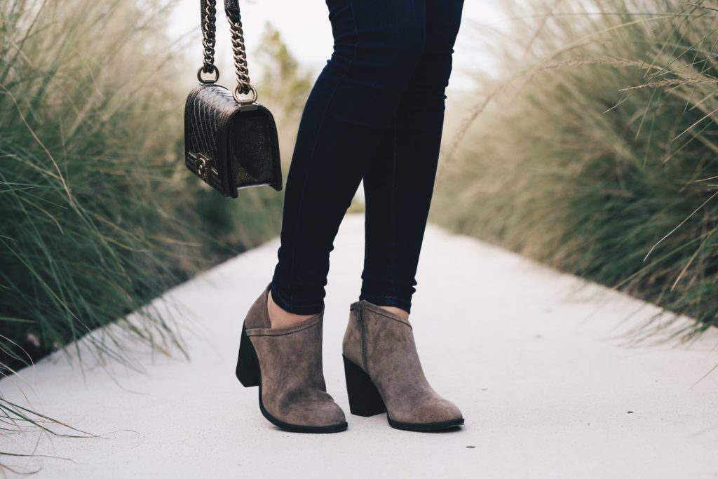 {Must Have Suede Booties for Fall}