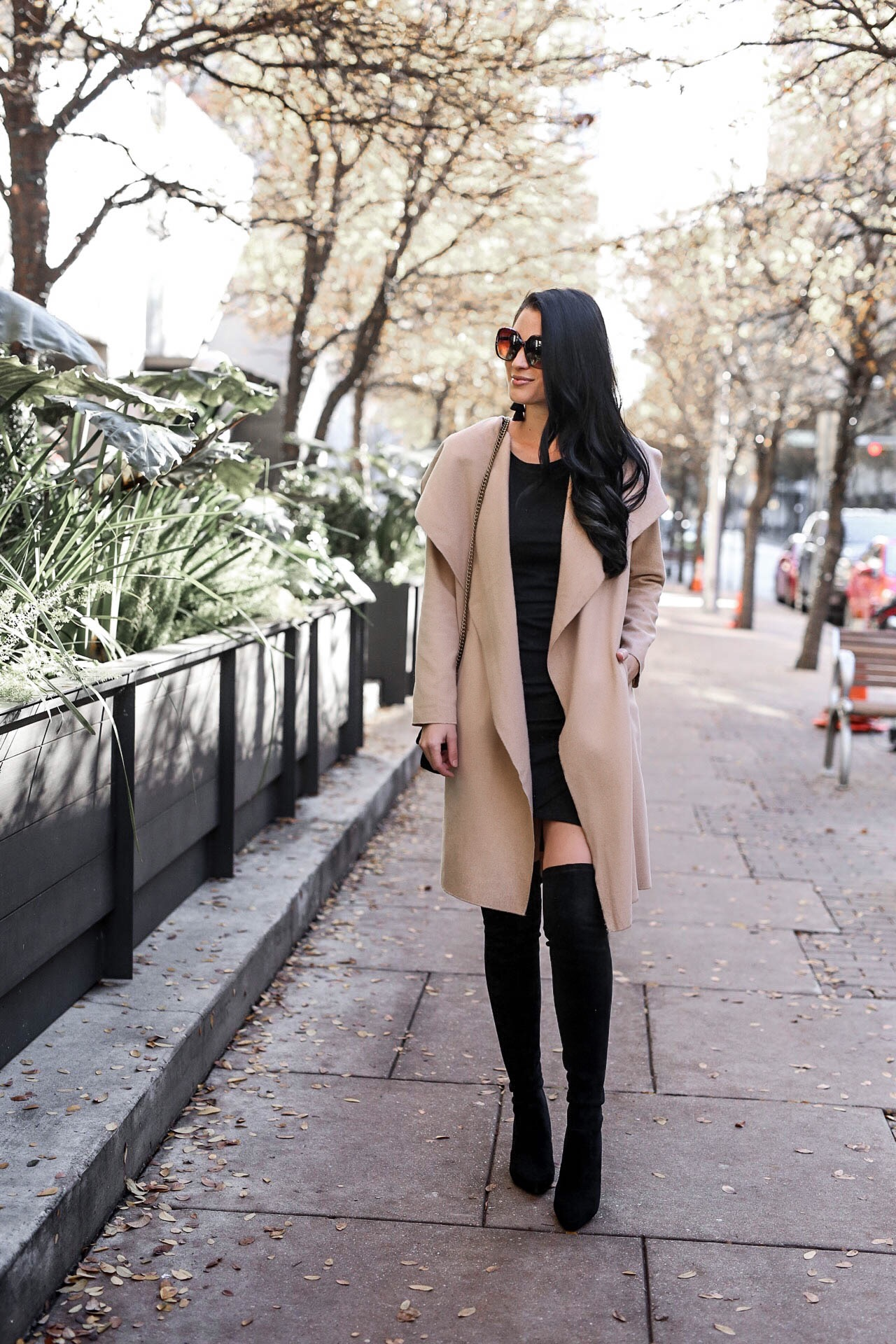 DTKAustin shares her top affordable coats from Chicwish that are under $100. Handbag from Henri Bendel, OTK boots from Goodnight Macaroon. | winter coats for women | how to style winter coats | affordable winter coats | winter style tips | winter fashion tips || Dressed to Kill #wintercoats #affordablewinterfashion #winterfashion - 10 Must-Have Classic Affordable Coats for Winter by Austin fashion blogger Dressed to Kill