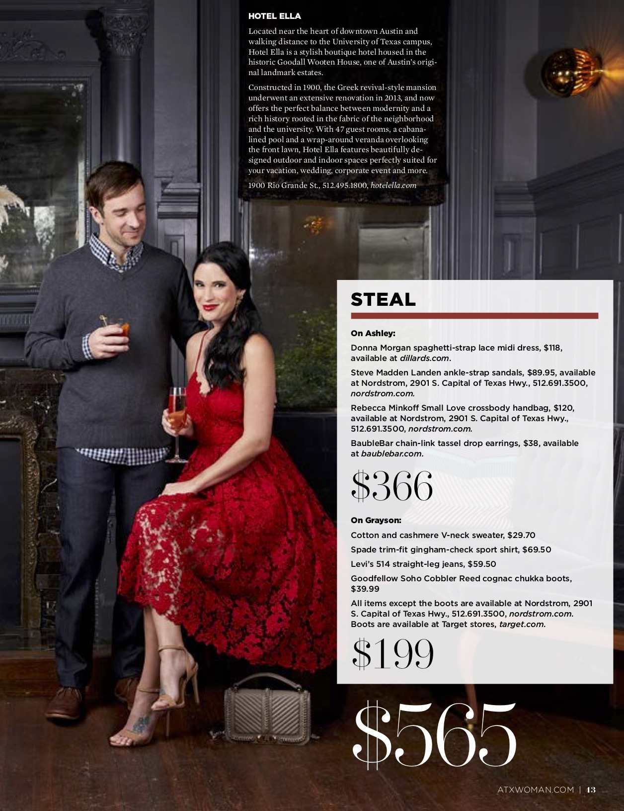 DTKAustin shares her recent Splurge or Steal Column about Date Night Ideas for him and her in Austin Woman Magazine just in time for Valentine's Day! || Dressed to Kill #valentineoutfits #datenightoutfit #reddress - Valentine's Date Night Outfits for Him & Her by popular Austin fashion blogger Dressed to Kill