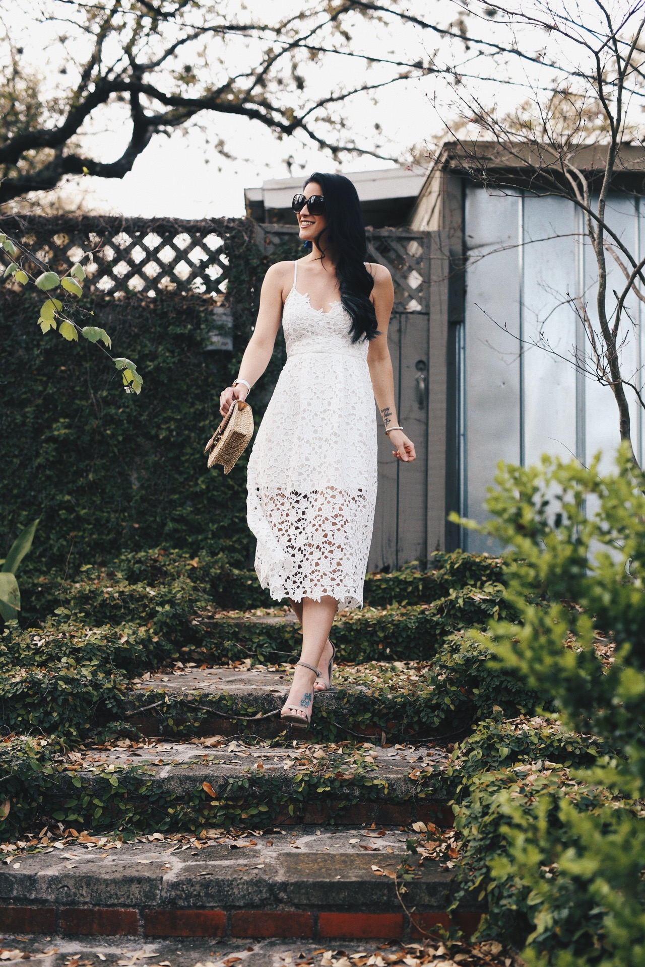 Cute Easter Dresses featured by top US fashion blog Dressed to Kill; Image of a woman wearing ASTR dress, Steve Madden shoes, H&M handbag, Marc Jacobs watch, Baublebar earrings, David Yurman bracelet and Nordstrom sunglasses.