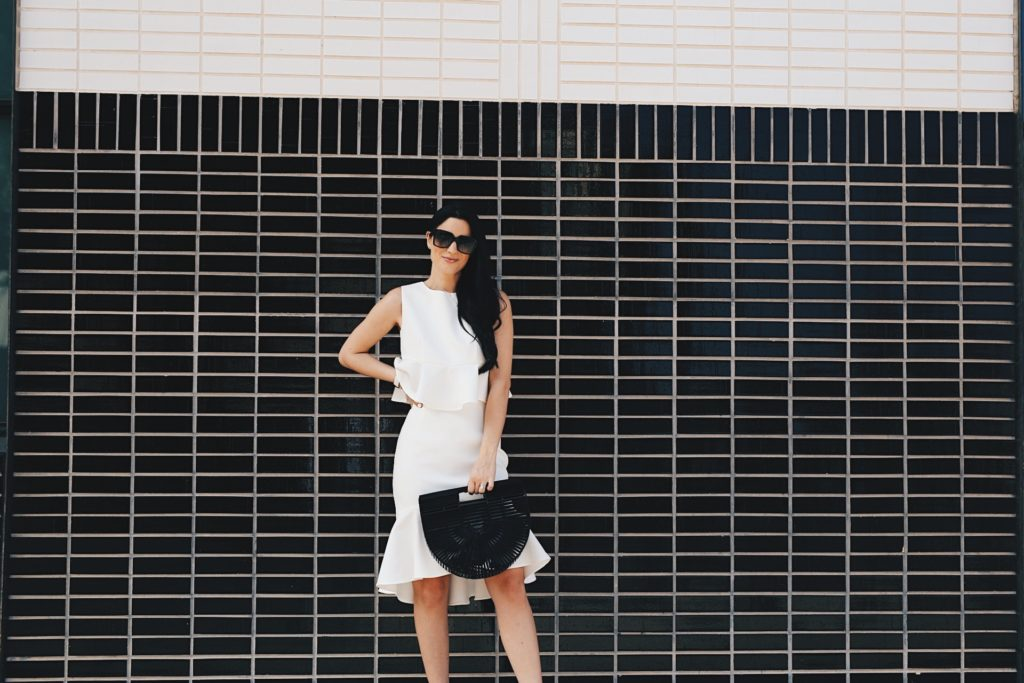 {Derby Inspired White Two Piece Set}