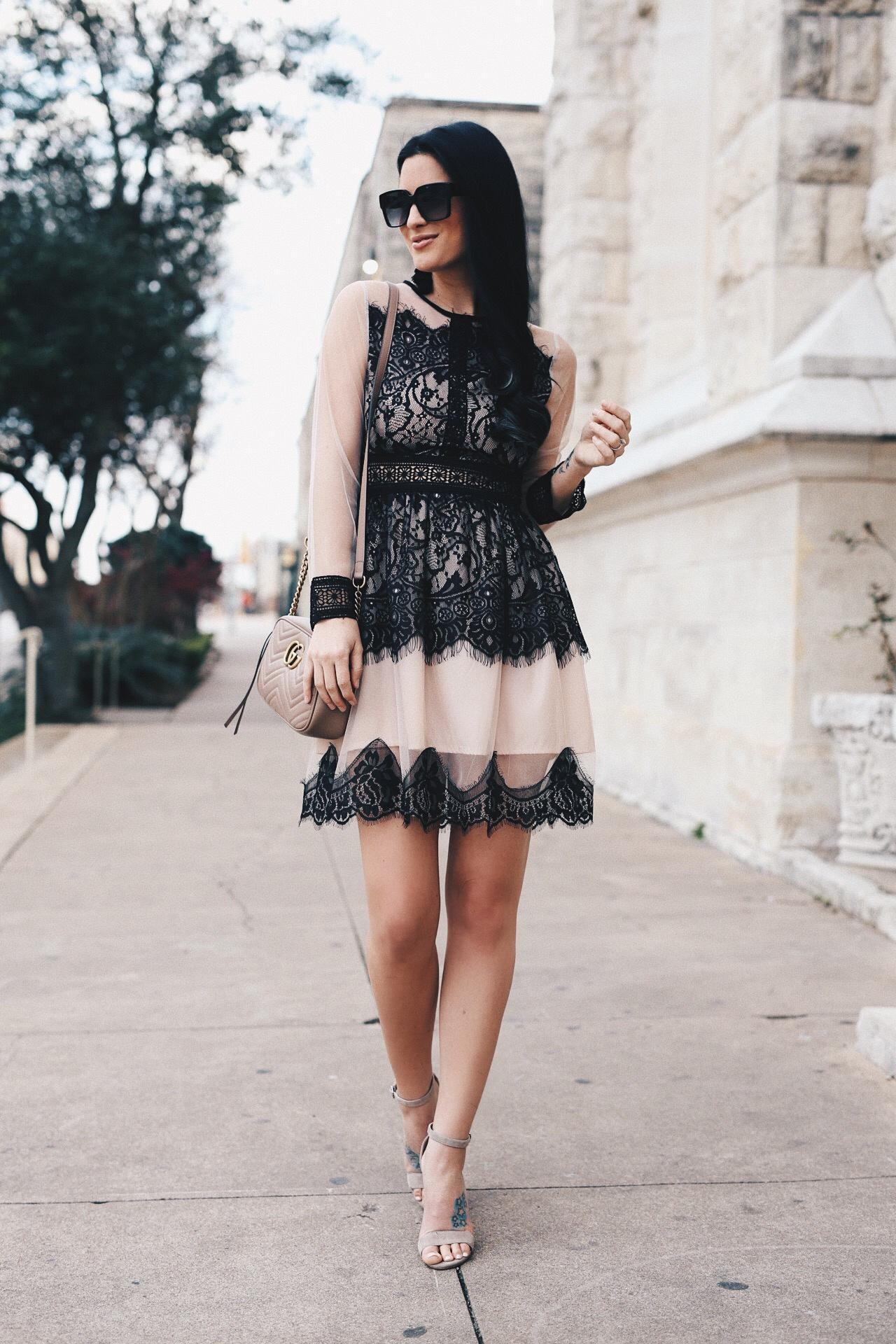 Womens Black Lace Dress Fashion Style Dressed To Kill