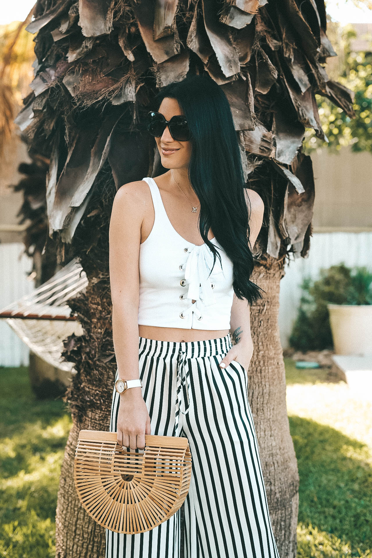 How to Style Striped Wide Leg Pants for Summer | summer pants | striped pants outfit | summer outfit ideas || Dressed to Kill #style #fashion #womensoutfits #stripedpants #summerstyle