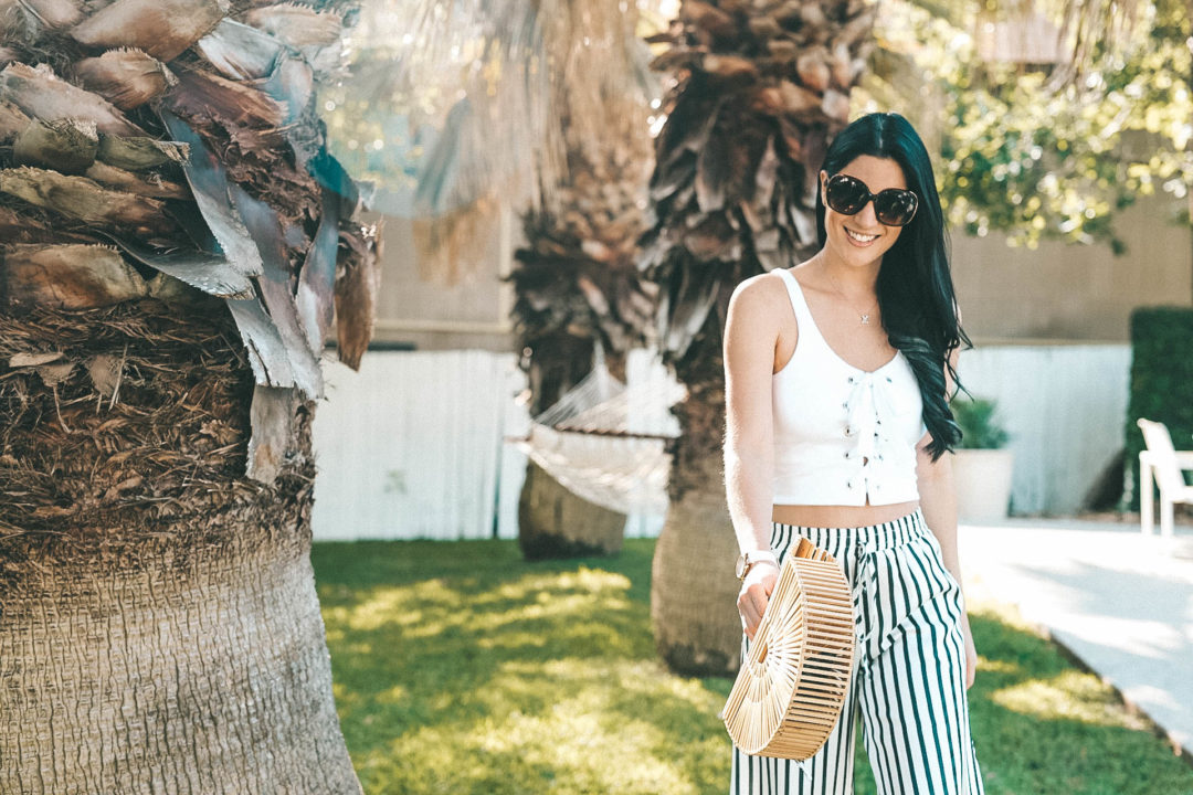 {Must Have Striped Pants for Spring/Summer + GIVEAWAY} featured by popular Austin fashion blogger, Dressed to Kill