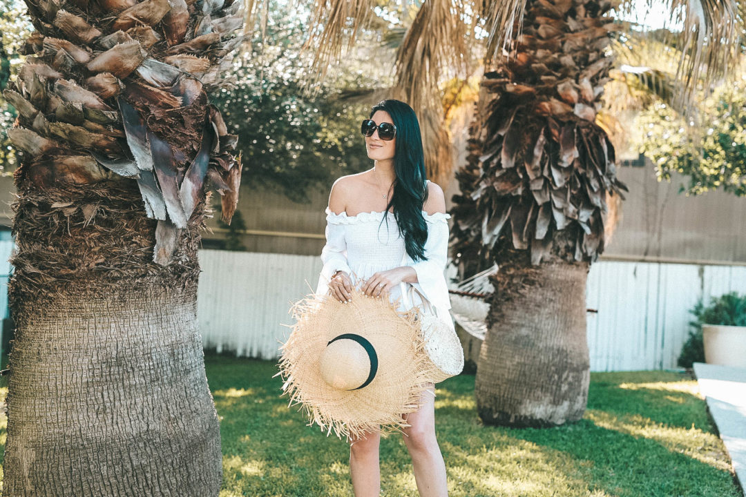 DTKAustin shares where to get the best white tops for summer from Chicwish that wont break the bank along with her frayed straw hat on sale. - {Affordable Summer Tops That Won't Break the Bank} featured by popular Austin fashion blogger, Dressed to Kill