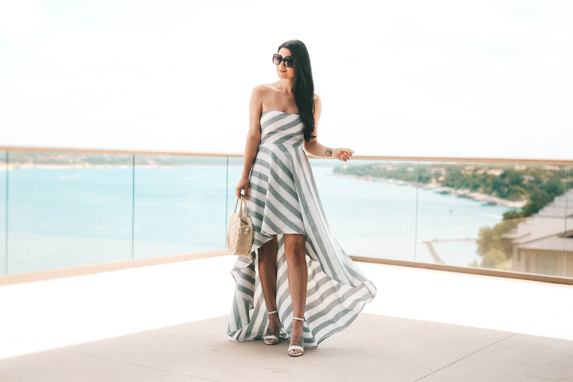 DTKAustin shares an affordable lace up, maxi dress perfect for summer. Dress is AKIRA, bag is Clare V, shoes Steve Madden. - {The Lace-Up Dress of Your Dreams} featured by popular Austin fashion blogger, Dressed to Kill