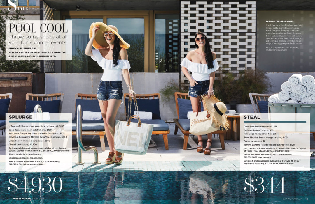 DTKAustin shares her recent Splurge or Steal Column about warm weather swimwear in Austin Woman Magazine just in time for Summer vacation! || Dressed to Kill #summeroutfits #swimwear #affordableswim #onepiecebathingsuit - What to Wear for a Summer Pool Day by popular Austin fashion blogger Dressed to Kill - Summer Pool Outfits + GIVEAWAY} by popular Austin style blogger, Dressed to Kill