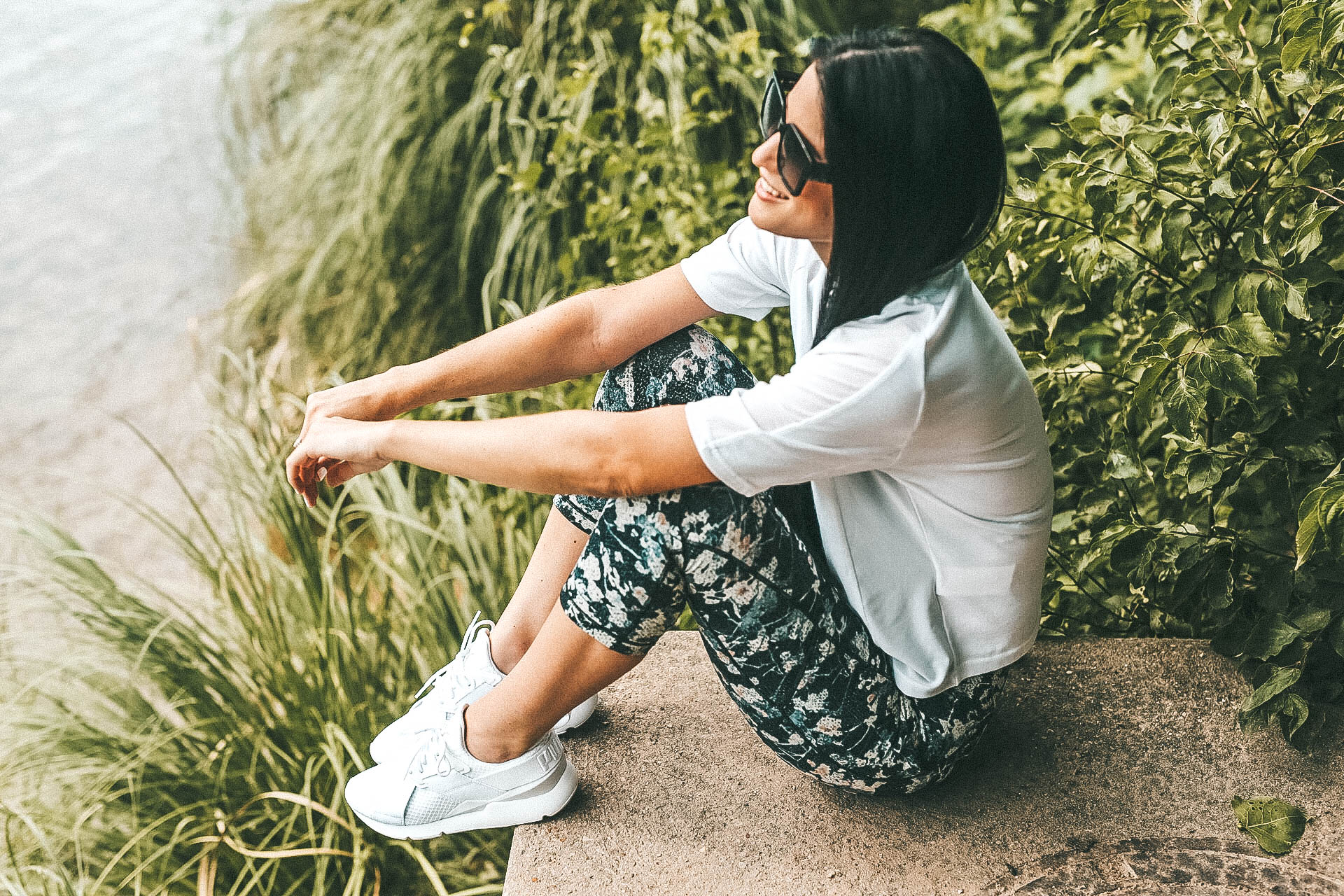 DTKAustin shares her go-to, affordable, workout and athleisure look with Puma and Zappos. Along with why this look makes her feel confident! - {Puma Muse Sneakers with Zappos} featured by popular Austin fashion blogger, Dressed to Kill