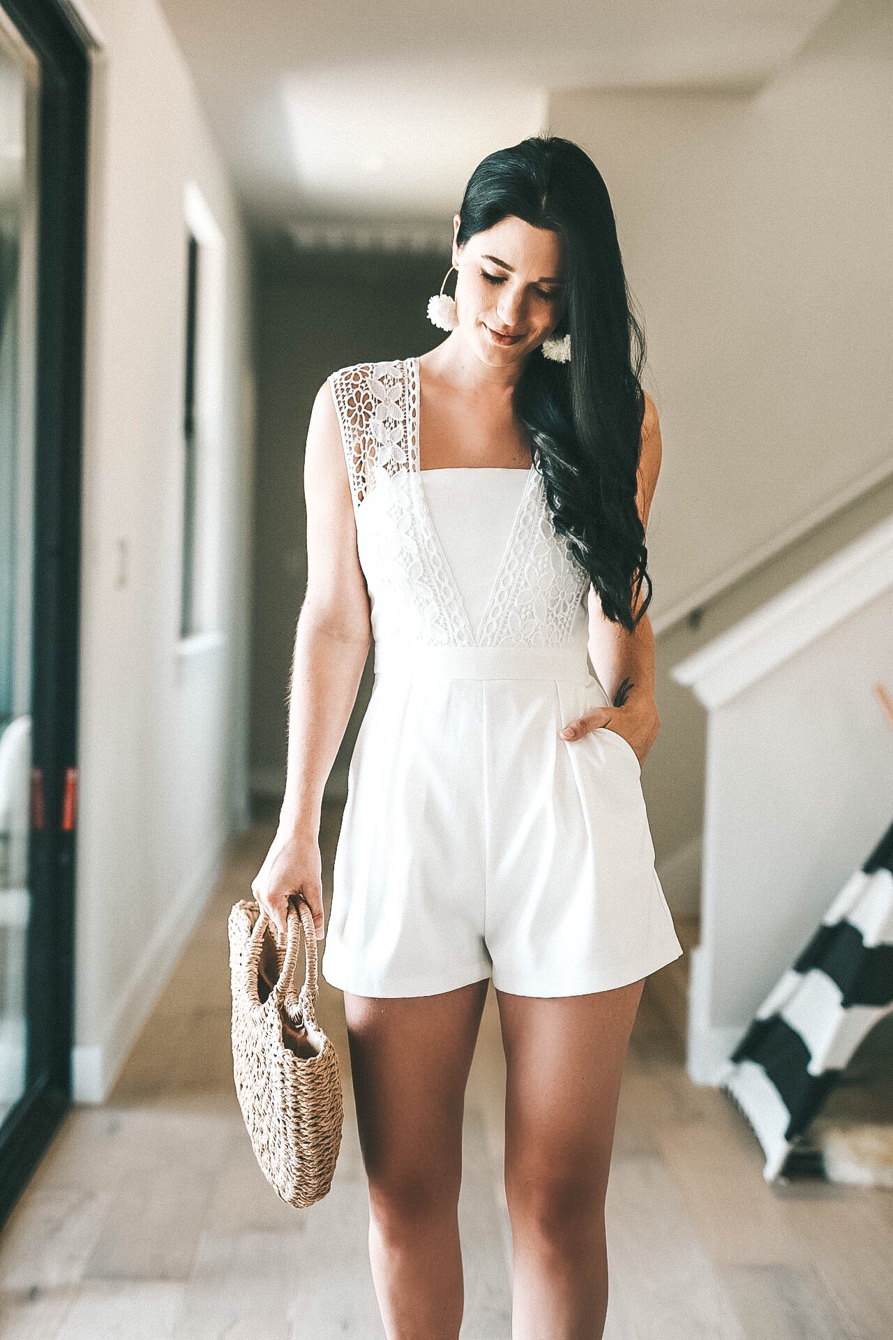 Affordable White Lace Romper for Summer | Chicwish Romper | romper style tips | how to wear a romper || Dressed to Kill #summerfashion #fashion #style #outfits #summeroutfits #romper #dtkaustin - {Chicwish White Lace Romper + Giveaway} featured by popular Austin fashion blogger, Dressed to Kill