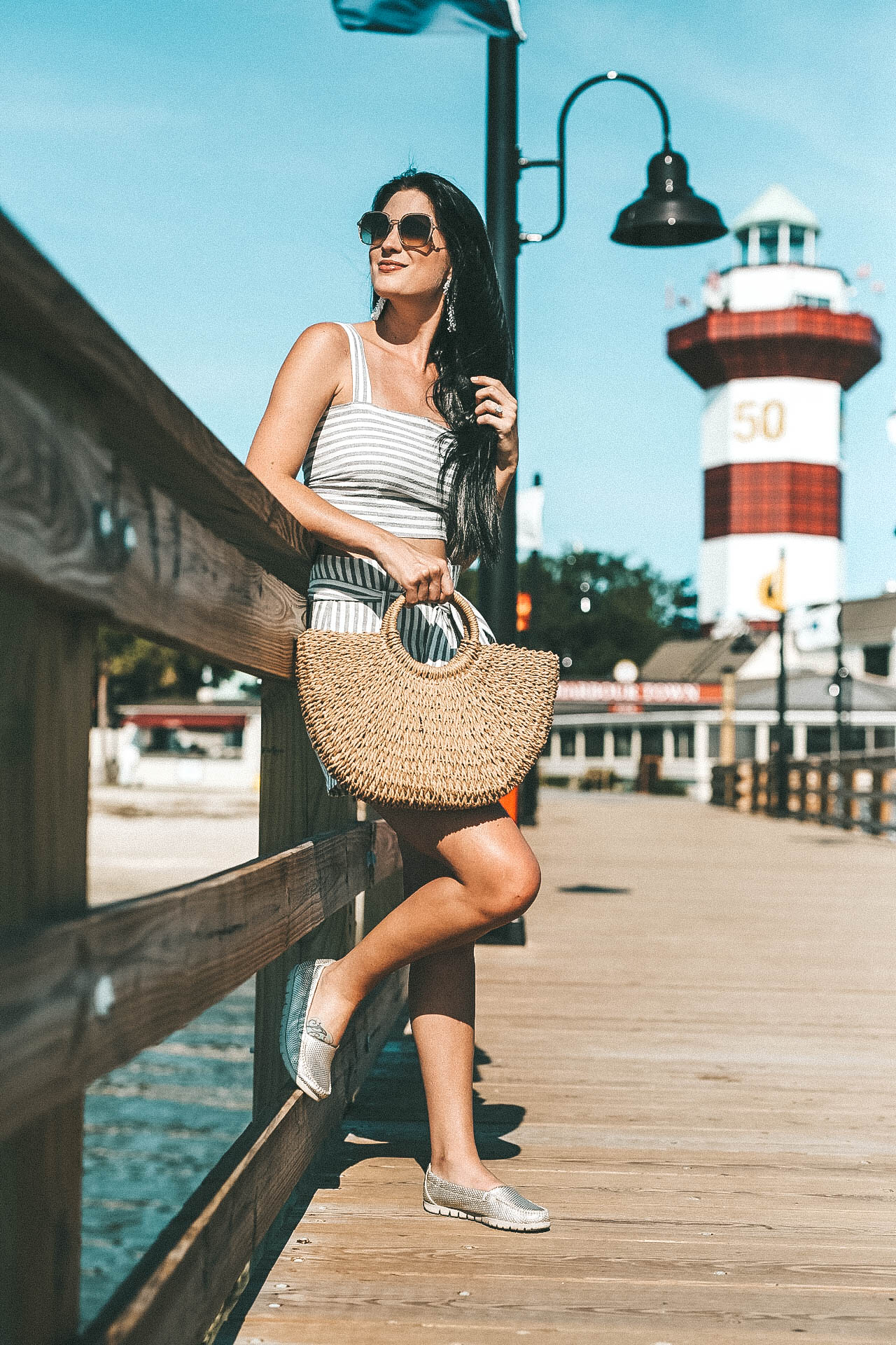 DTKAustin shares tips on what to do at the Harbour Town Lighthouse while on Hilton Head Island in South Carolina. || Dressed to Kill #HHI #hiltonhead #harbourtownlighthouse #sctravel #scbeaches #dtkaustin - {Exploring the Harbour Town Lighthouse + Giveaway} featured by popular Austin travel blogger, Dressed to Kill