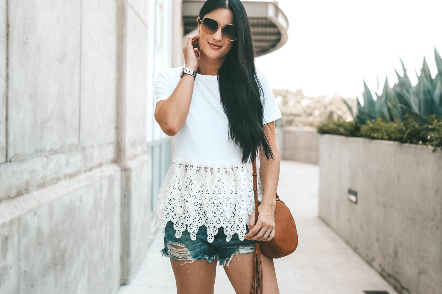 DTKAustin shares the perfect white lace peplum top for summer from Chicwish. It is under $30 and an affordable staple top. | how to wear a peplum top | summer tops | summer outfits for women | women's outfits || Dressed to Kill #style #fashion #outfits #womensoutfit #peplum #peplumtop #summerfashion #summerstyle #summeroutfit #dtkaustin