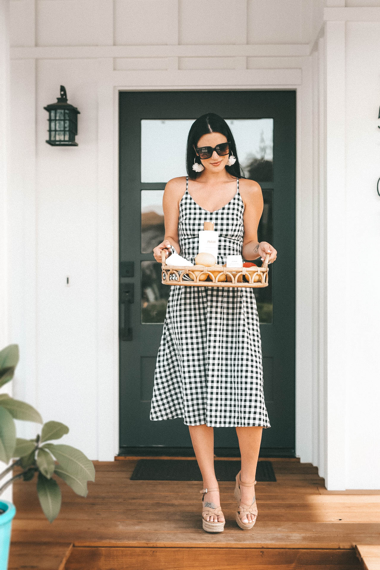 #style #fashion #outfits #summerfashion #summerstyle #mididress #gingham #dtkaustin - {Why I Have Used Raw Sugar Living for 10+ Years + GIVEAWAY} featured by popular Austin beauty blogger Dressed to Kill