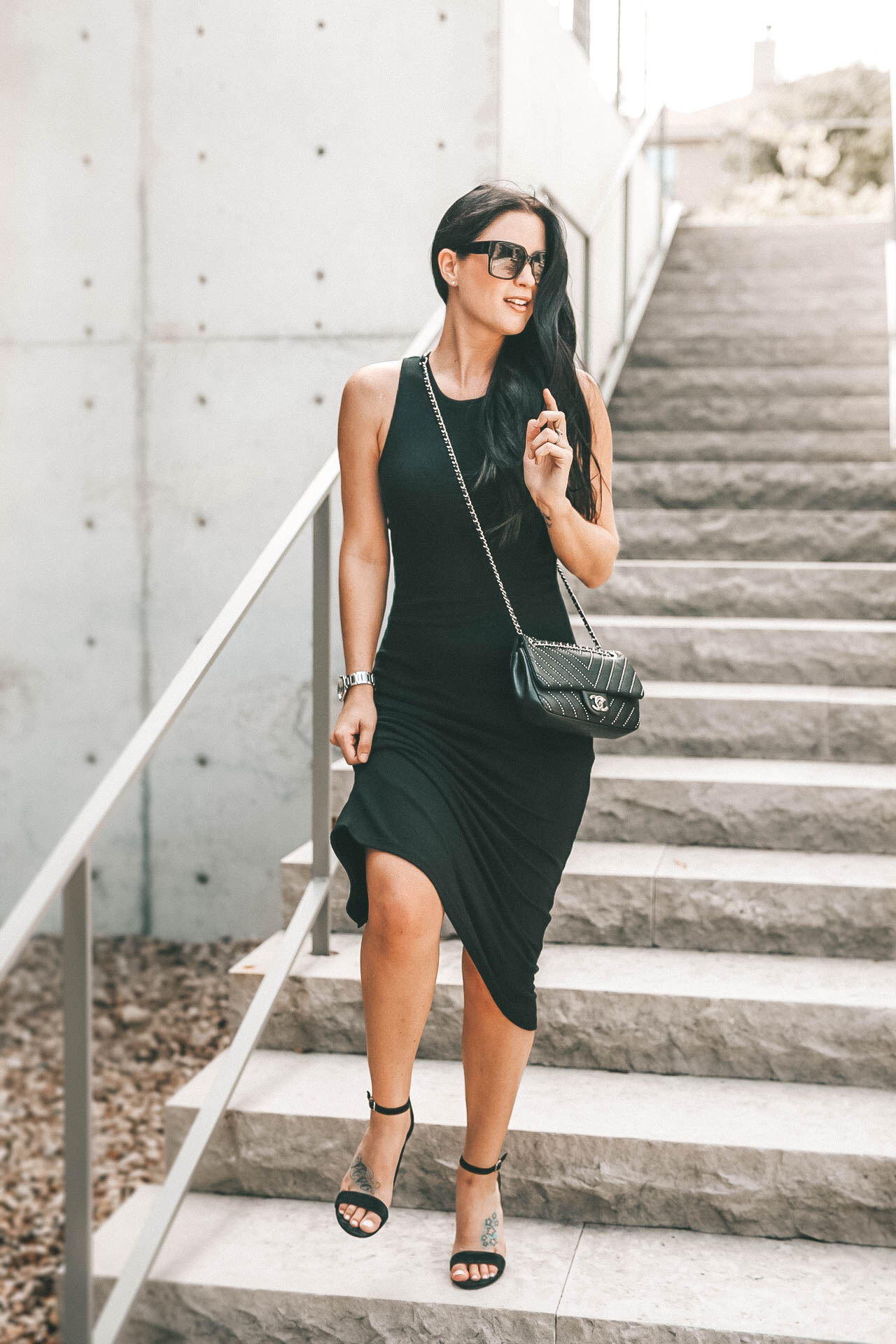 DTKAustin talks about one of her favorite new retailers at the Domain NORTHside. Marine Layer just opened and is offering a 20% discount with code DOMAINNORTHSIDE. | little black dress style | how to style a black dress | summer dresses || Dressed to Kill #fashion #style #outfits #lbd #blackdress #dresses #dtkaustin - {Marine Layer at Domain NORTHside + 20% off Discount} featured by popular Austin fashion blogger Dressed to Kill