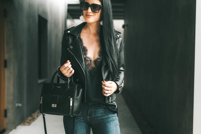 3a35905c8 BlankNYC Faux leather Black Moto Jacket - Dressed to Kill