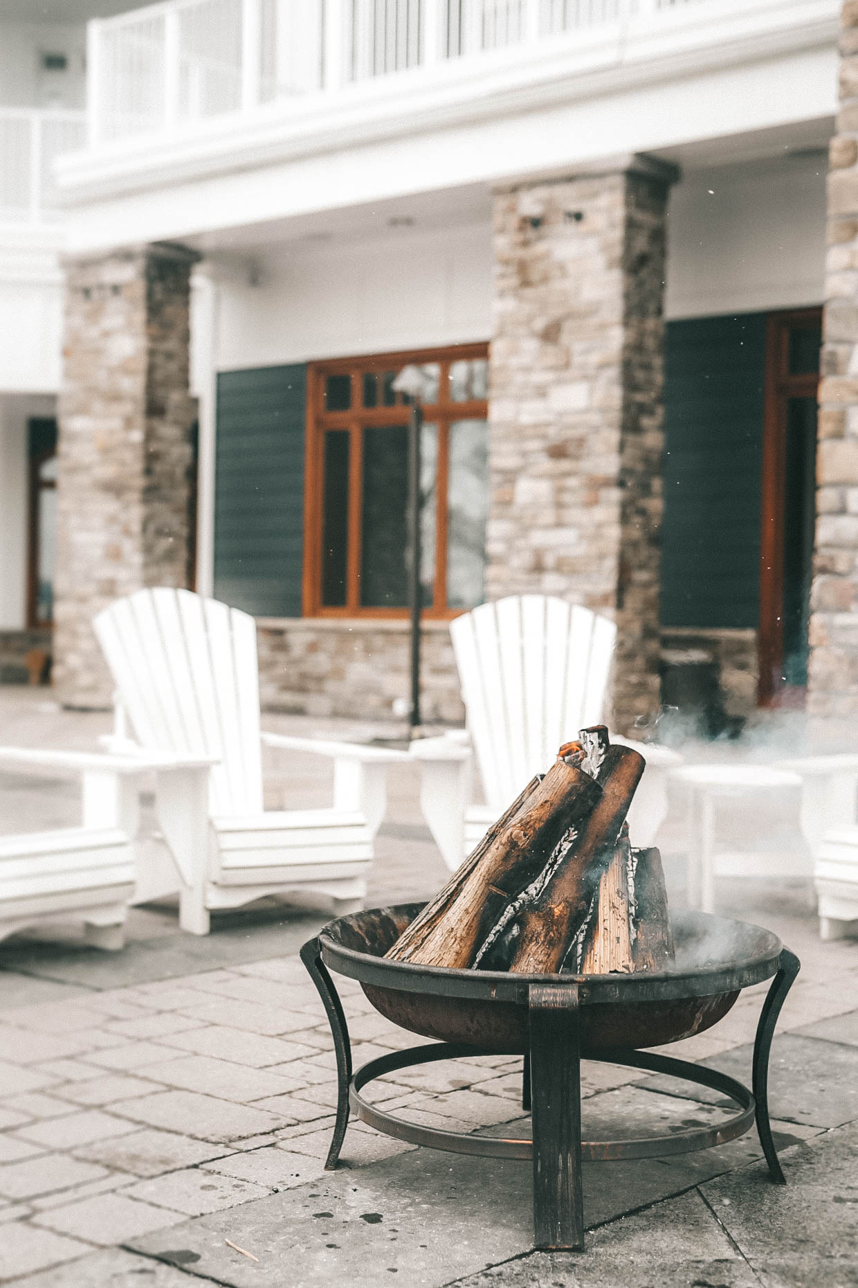 The Rosseau Muskoka featured by top US travel blog Dressed to Kill; A campfire in Canada