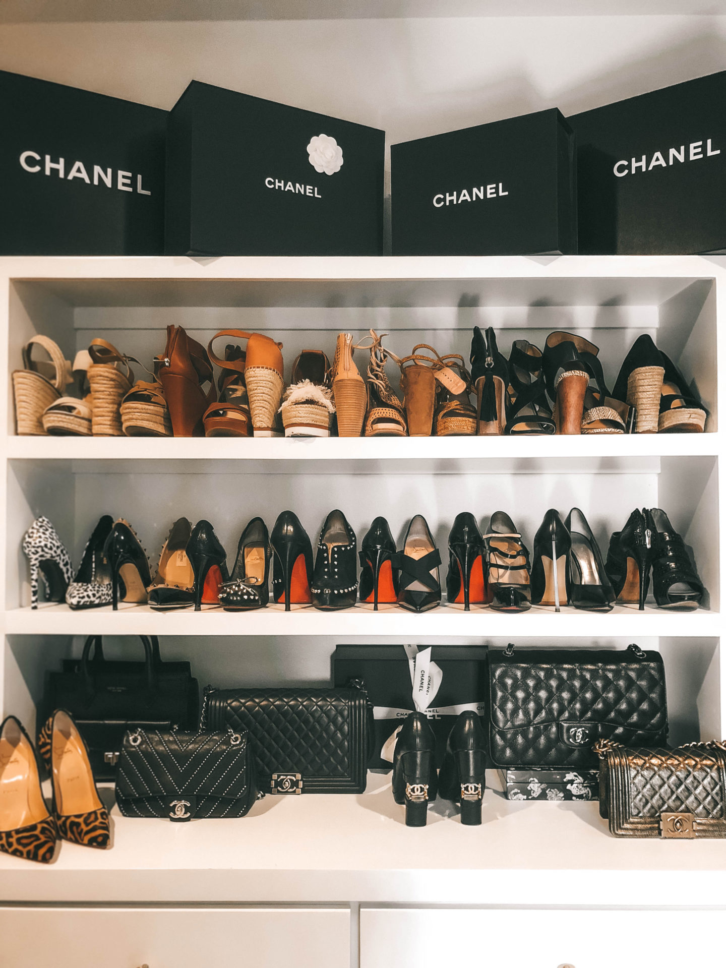 Custom designed master closet ideas