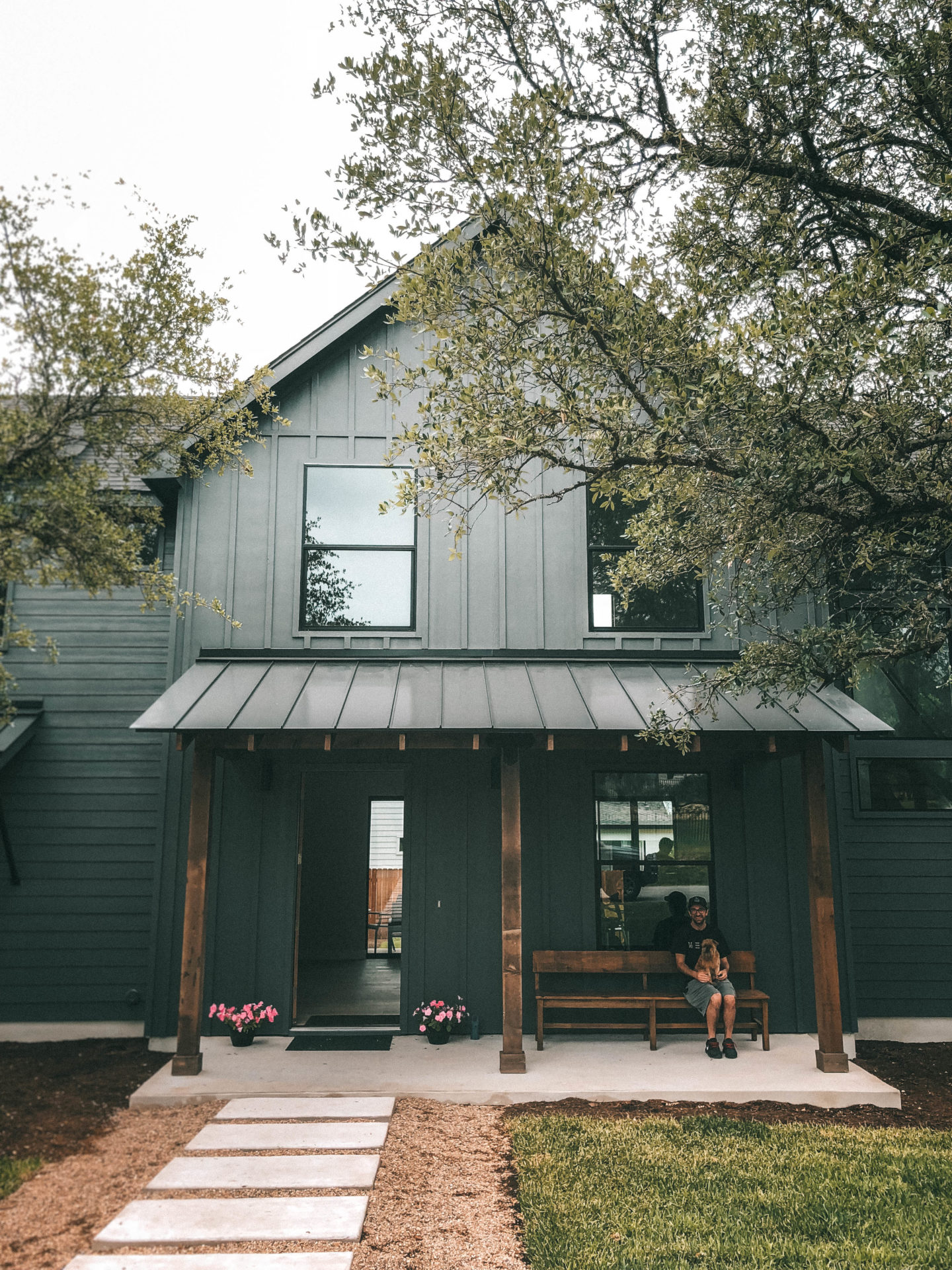 Dark Grey Modern Farmhouse Texas