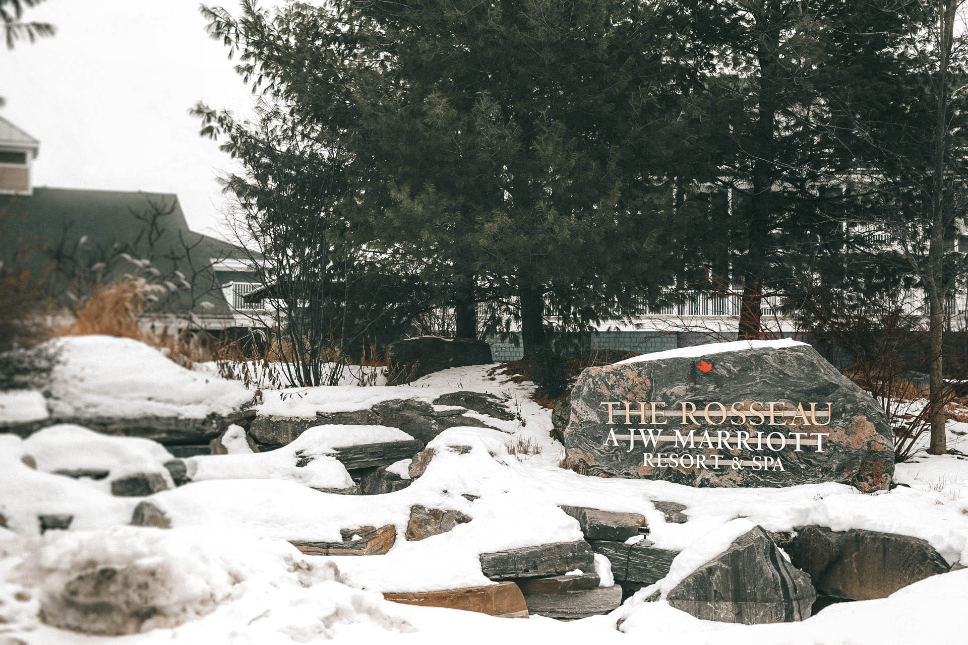 The Rosseau Muskoka featured by top US travel blog Dressed to Kill; Entry mountain resort and spa in Canada