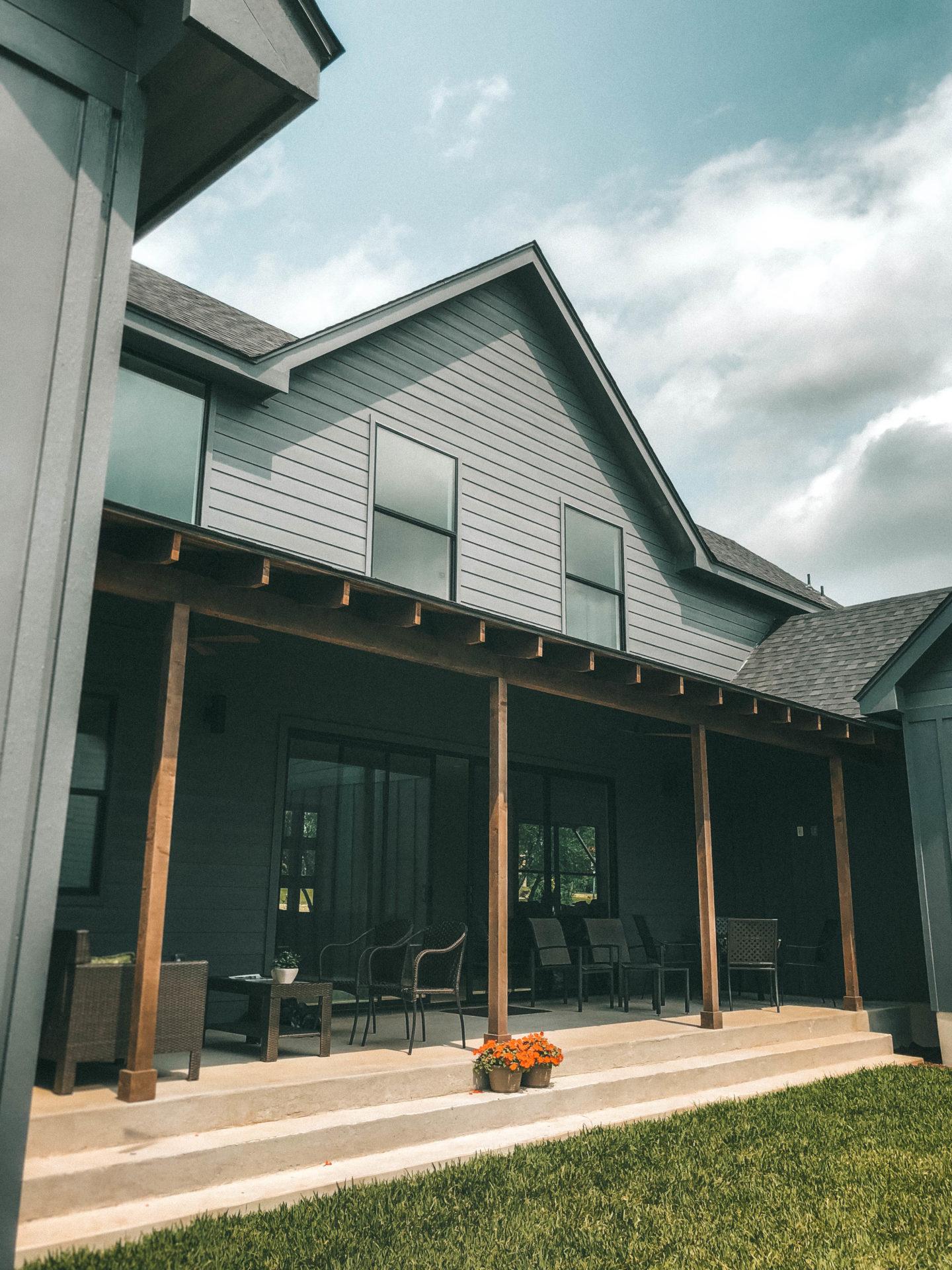 Modern Farmhouse Back Porch