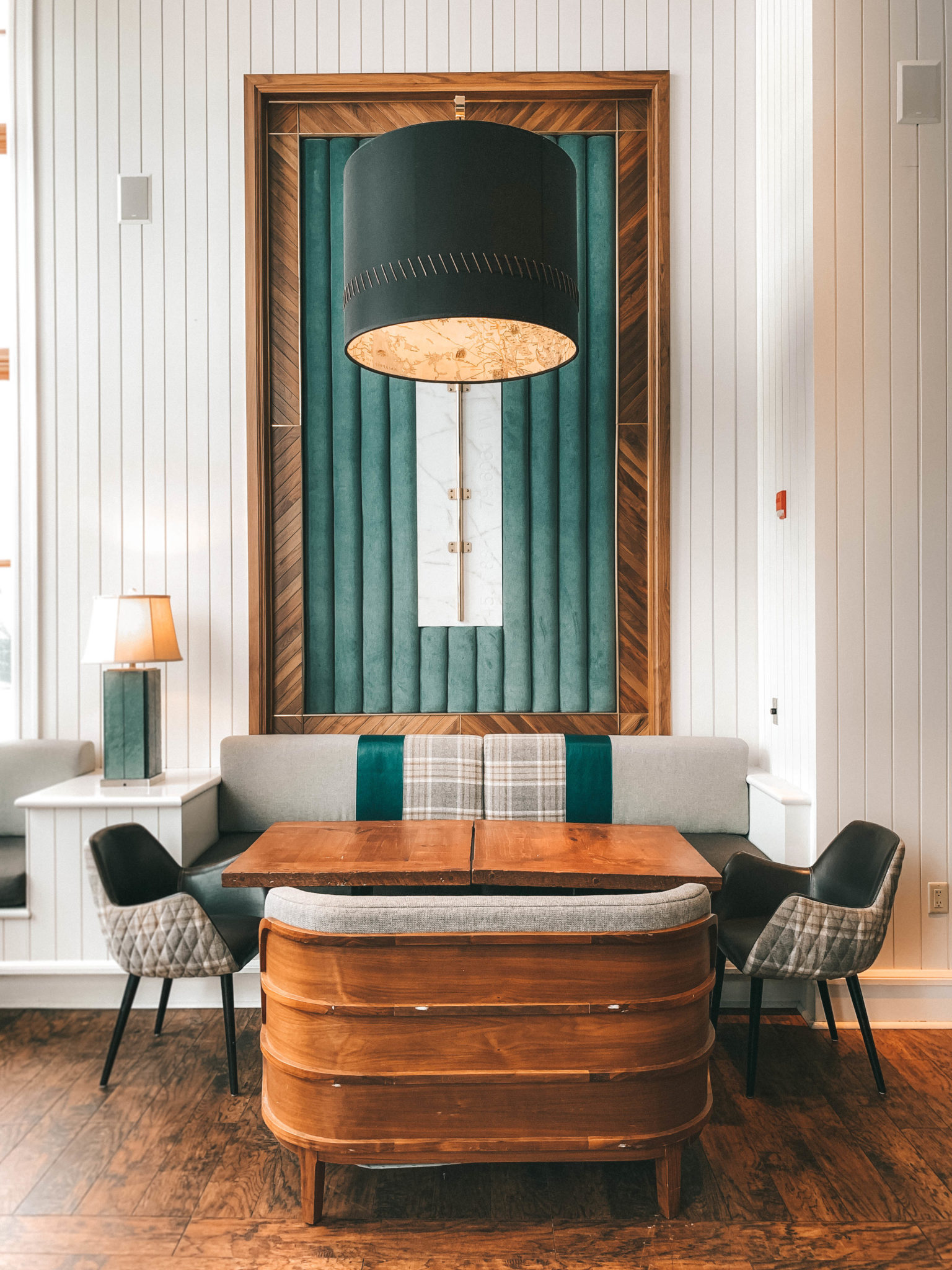 The Rosseau Muskoka featured by top US travel blog Dressed to Kill; Hotel lobby in Canada
