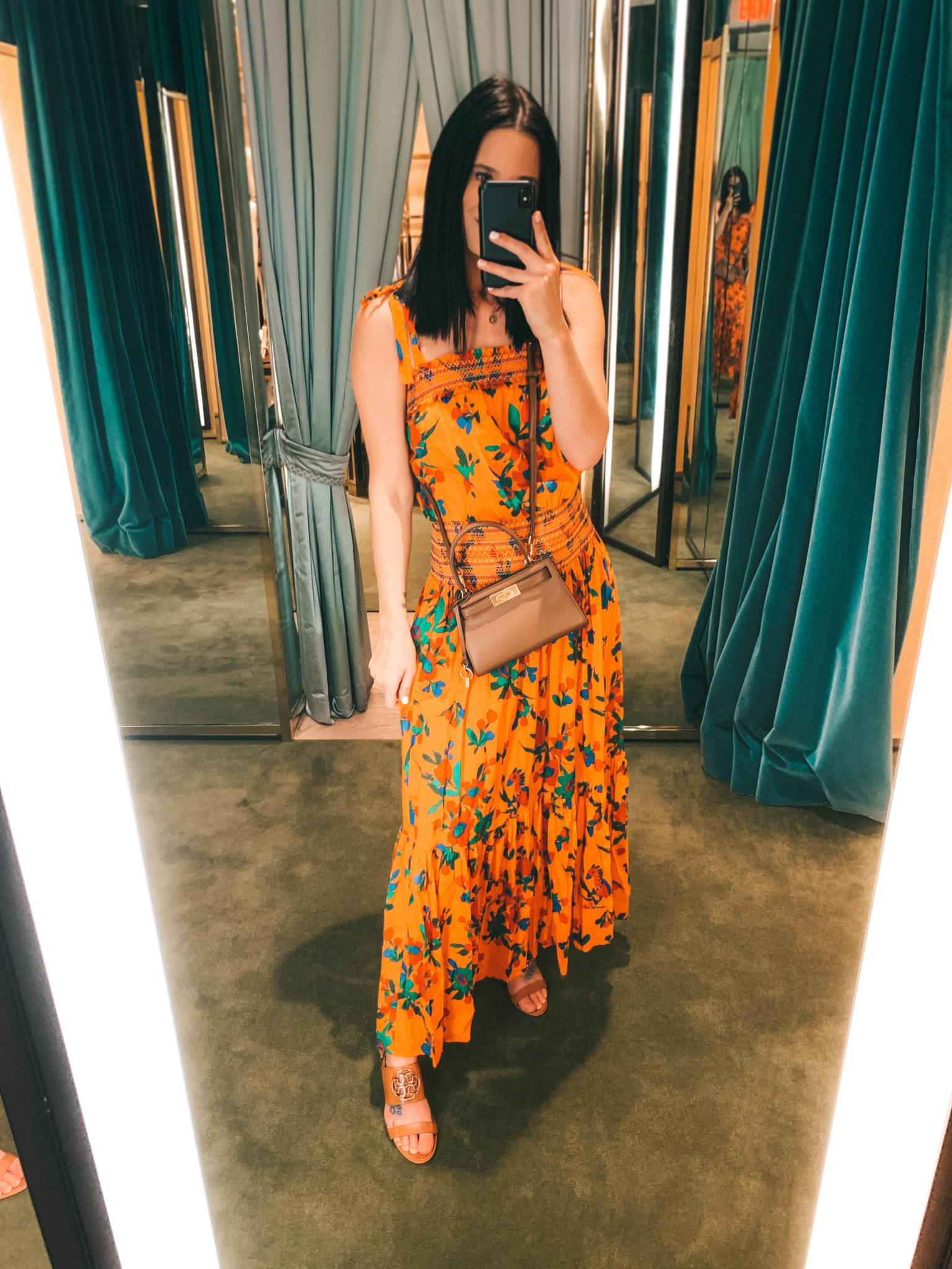 Unique Mother's Day Gift Ideas featured by top US life and style blogger Dressed to Kill; Image of a woman wearing a yellow maxi dress.