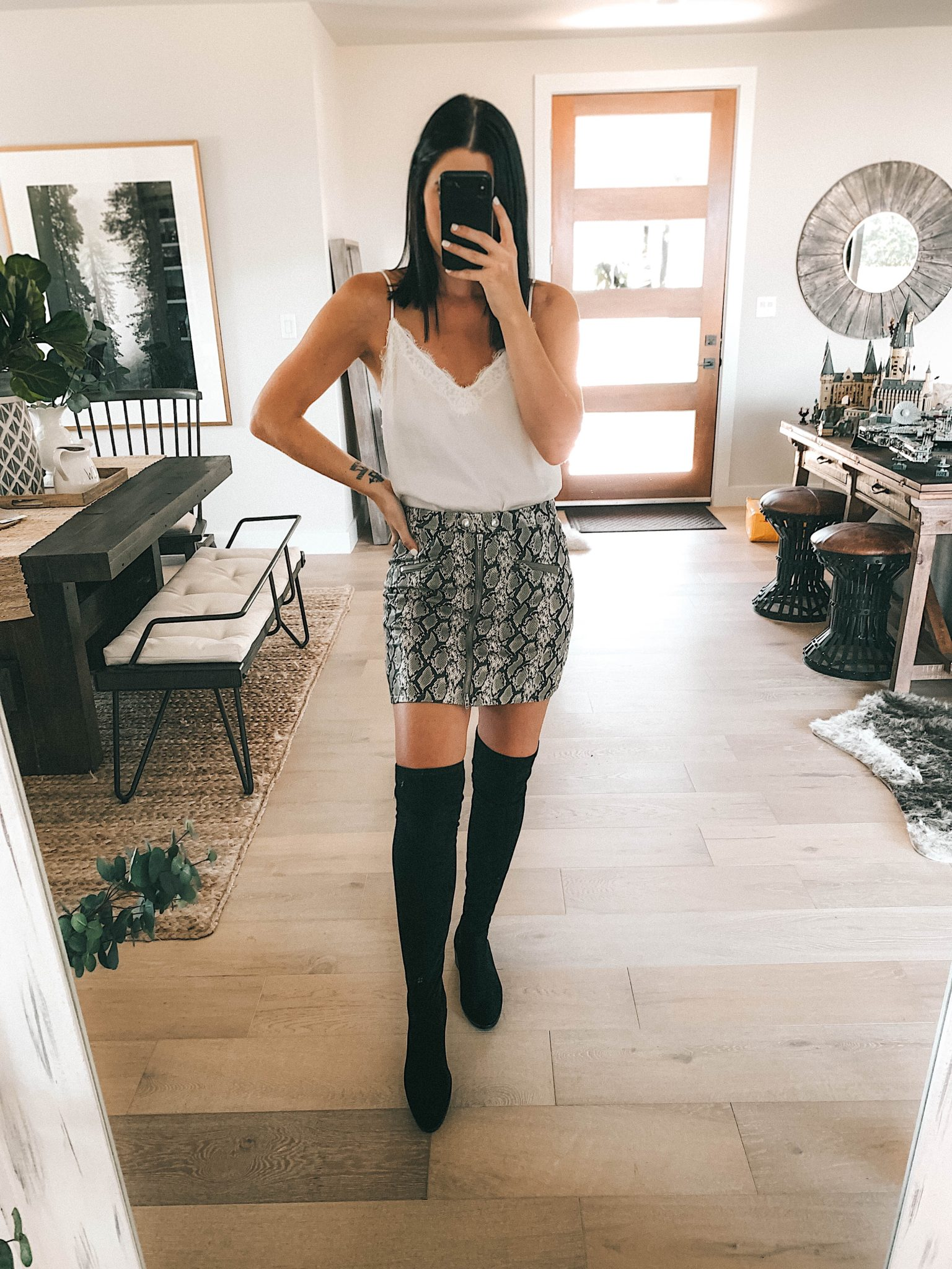 Create a Capsule Wardrobe with Nordstrom Anniversary Sale Pieces by popular Austin fashion blog, Dressed to Kill: image of a woman standing in her house and wearing