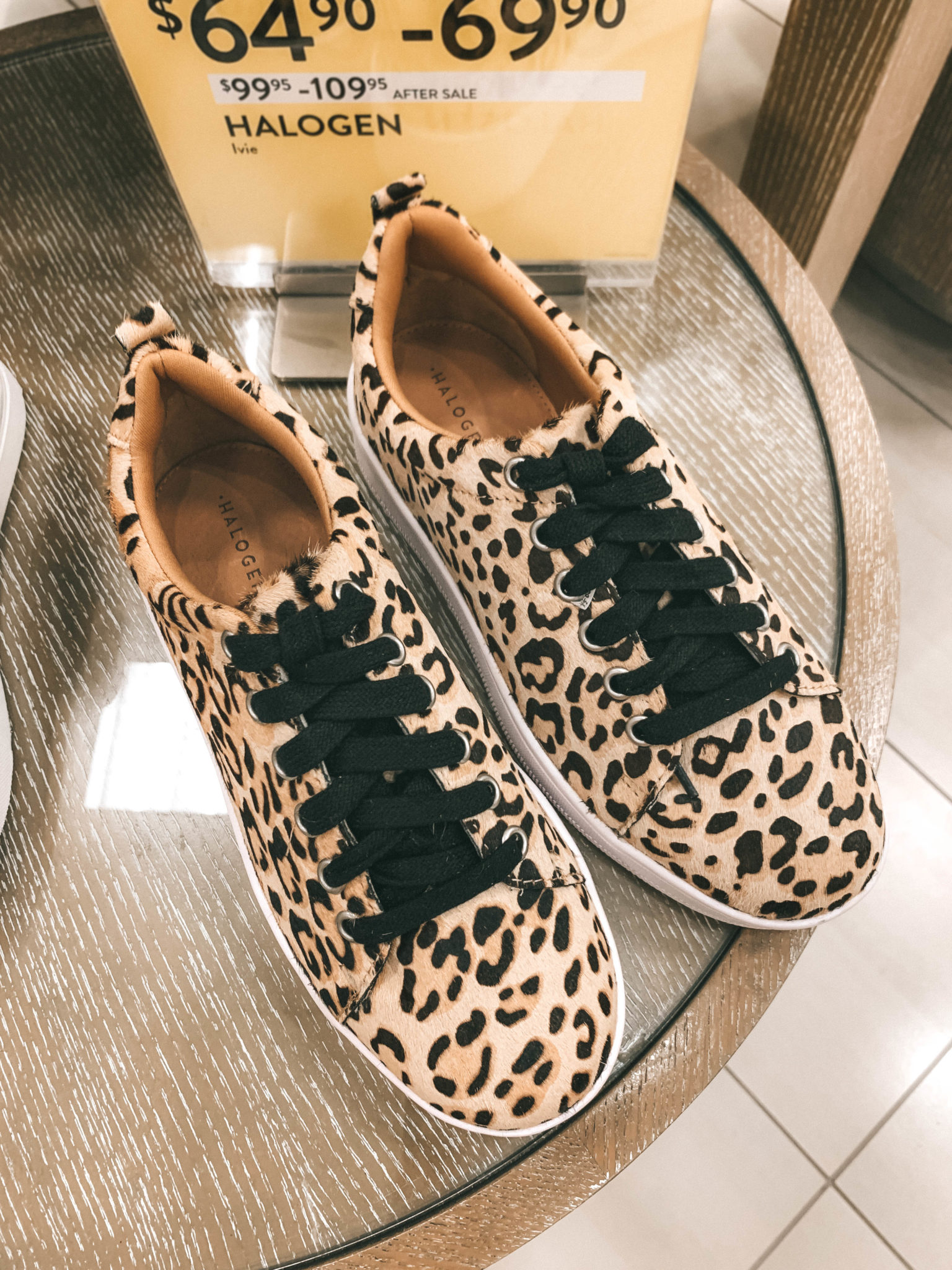 Top 11 Must Have Pieces from the Nordstrom Anniversary Sale by popular Austin fashion blog, Dressed to Kill: image of a pair of Halogen leopard print sneakers.