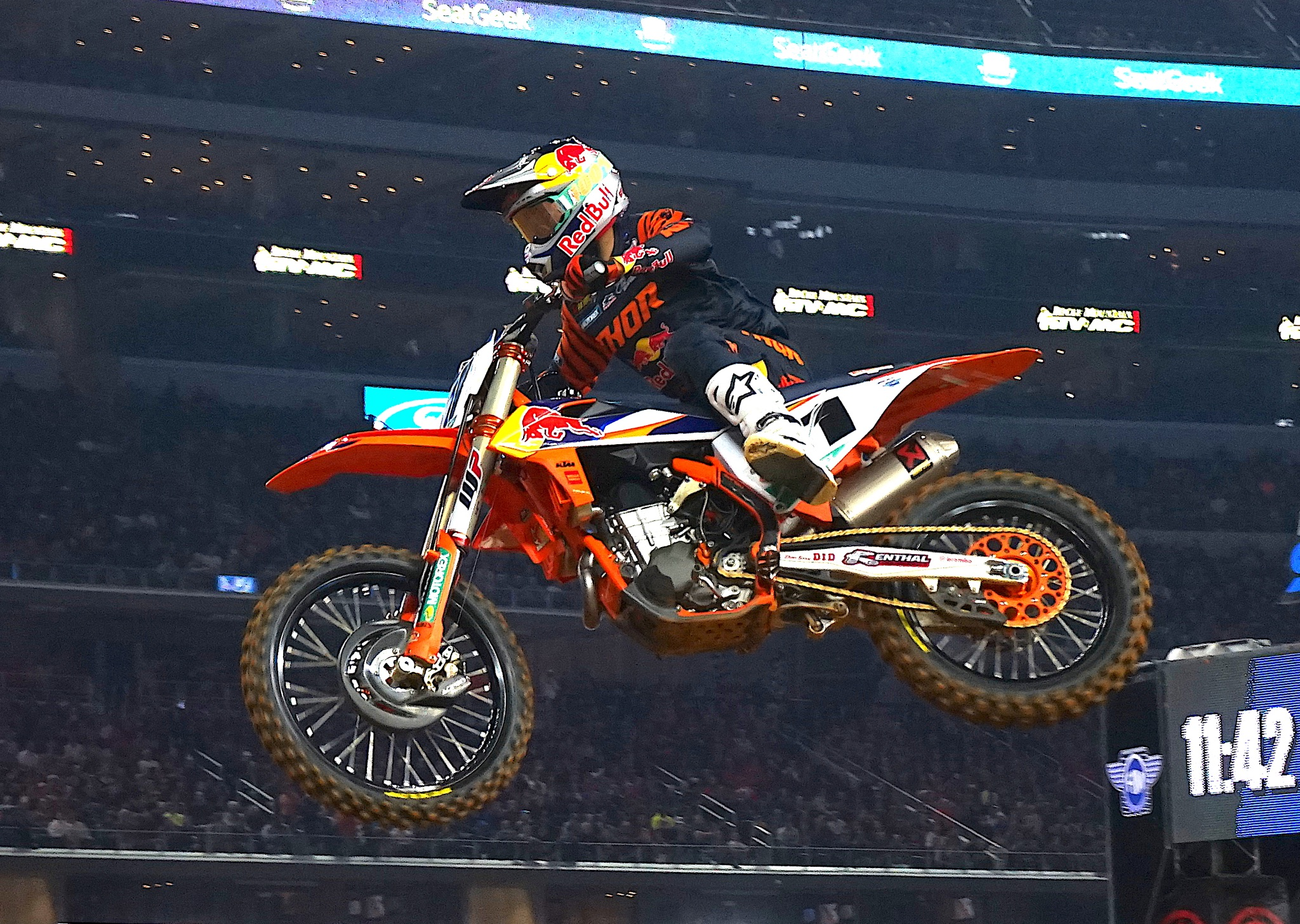 This Shirt Saves Lives by popular Austin lifestyle blog, Dressed to Kill: image of a supercross competitor.
